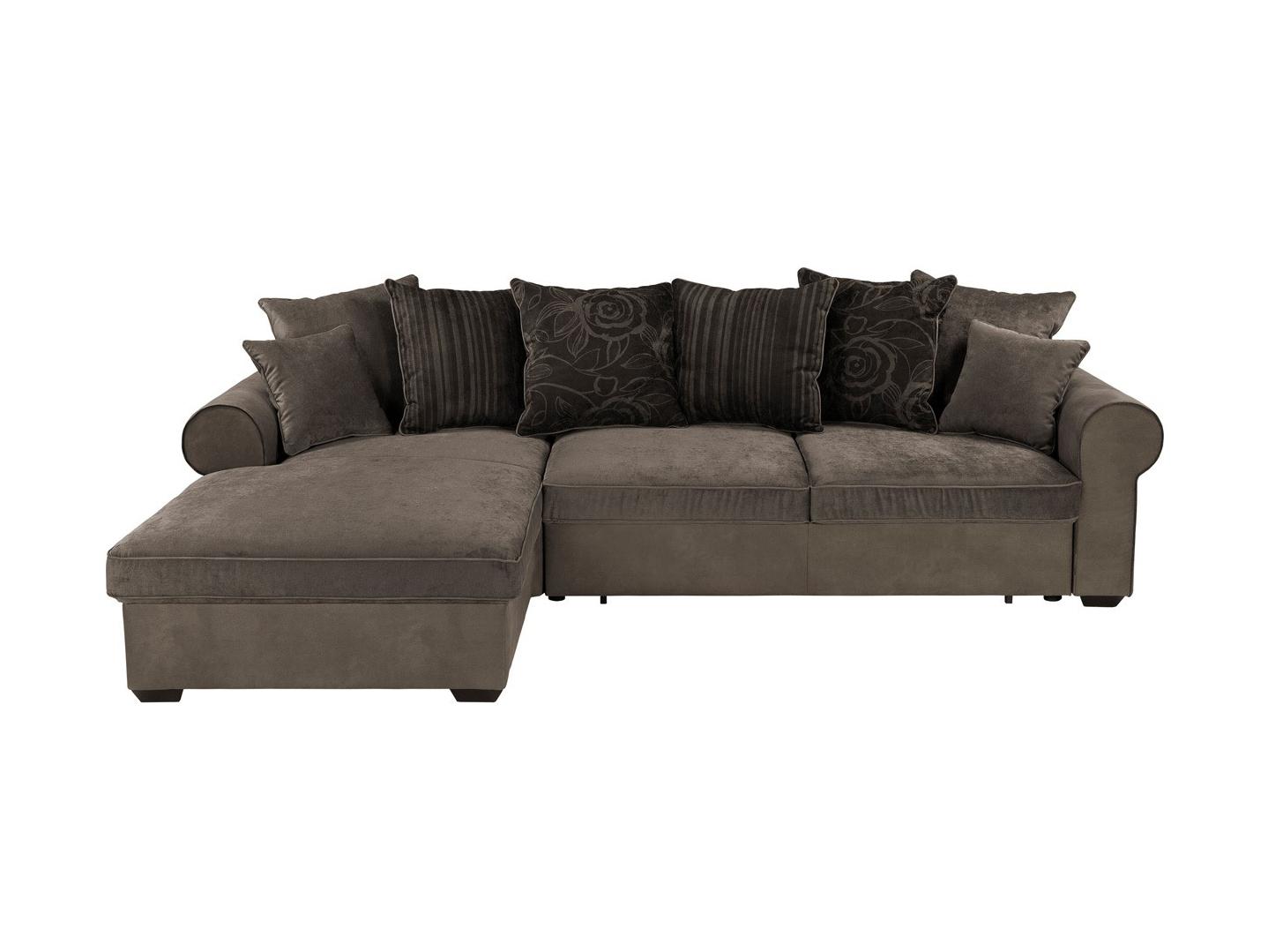 Rohová sedací souprava - BRW - Canyon Lux 3DL.REC (hnědá) (L)