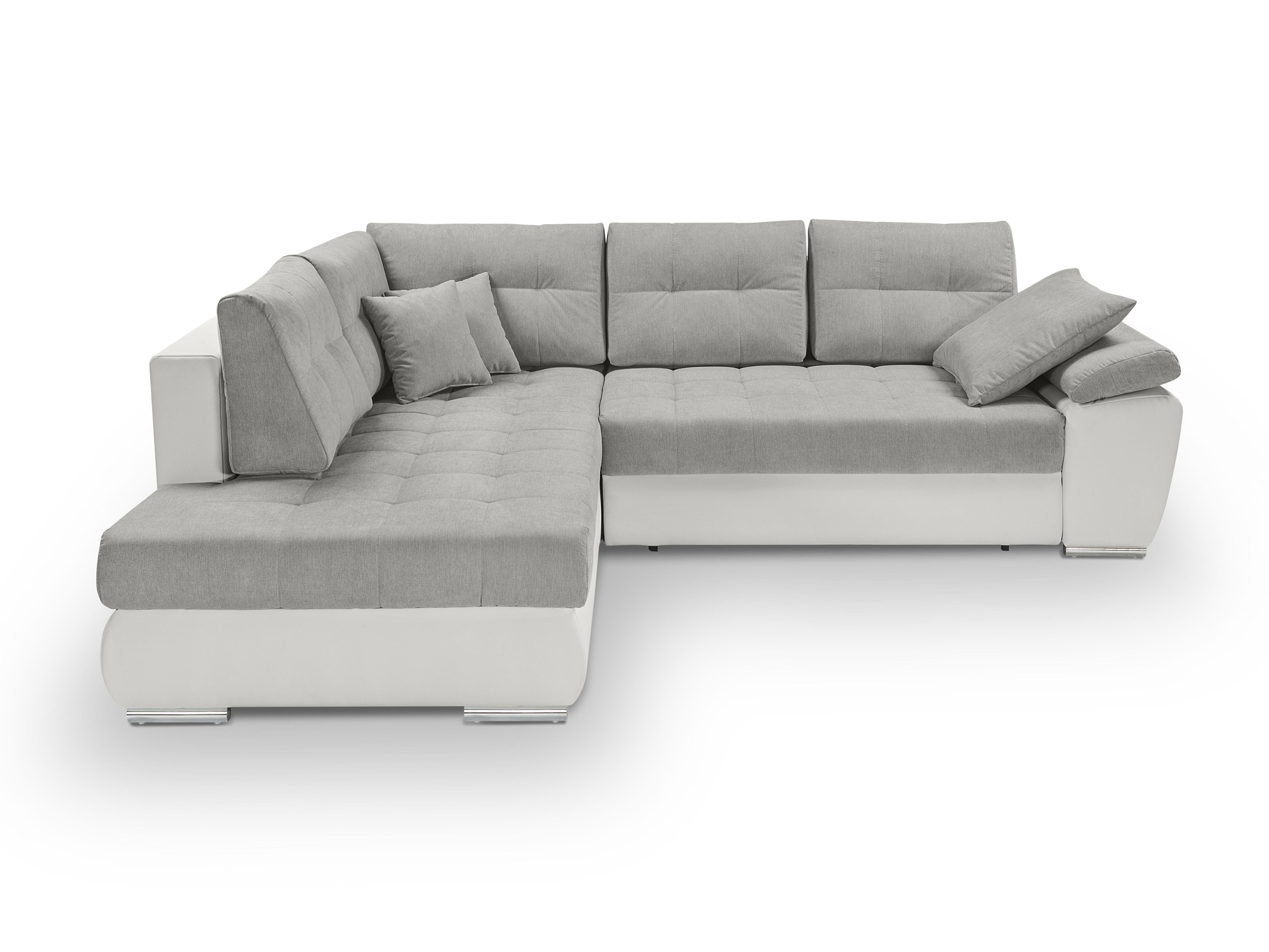 Rohová sedací souprava - BRW - Carl Lux 3DL.RECBK (šedá + bílá) (L)