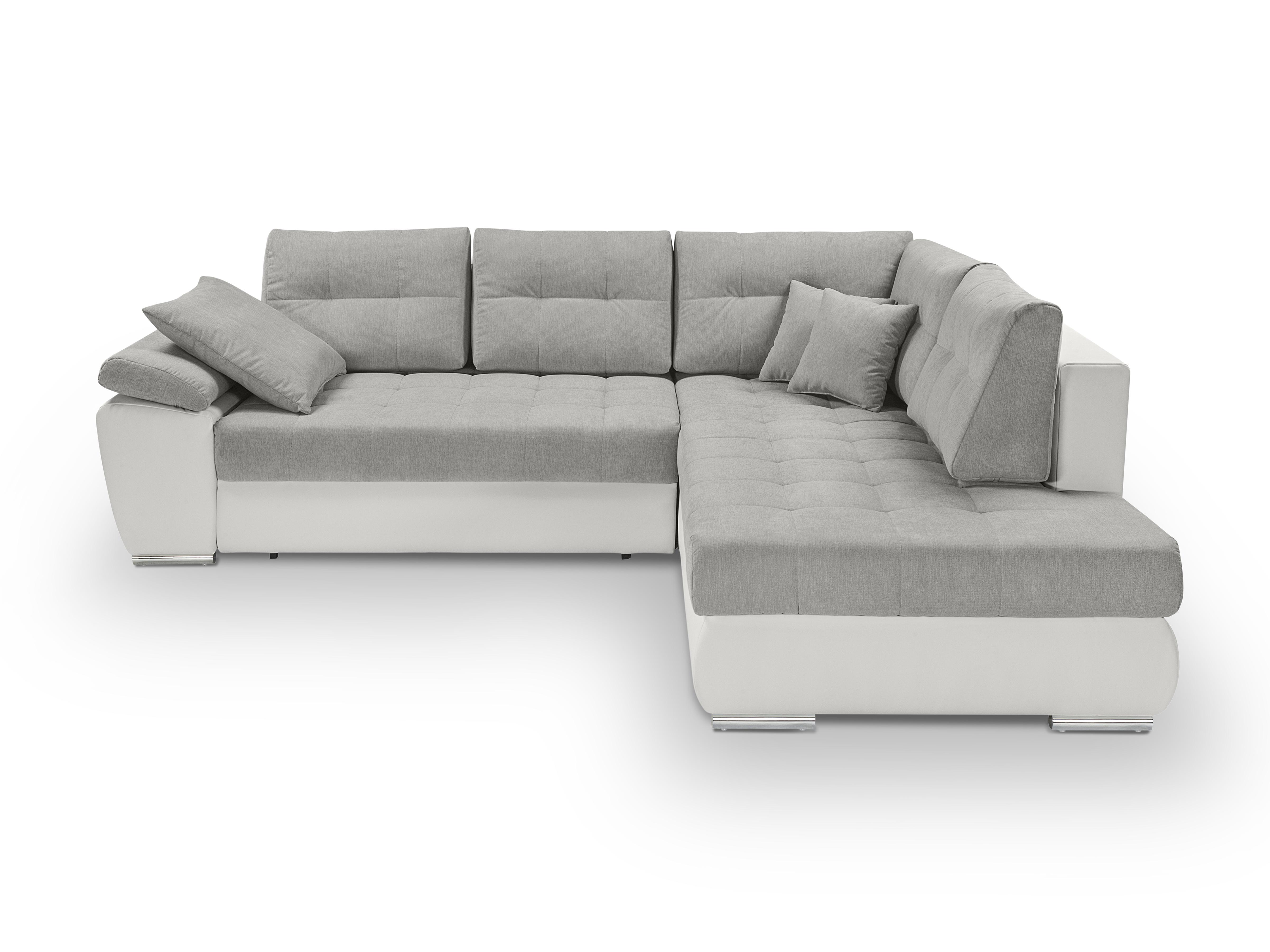 Rohová sedací souprava - BRW - Carl Lux 3DL.RECBK (šedá + bílá) (P)