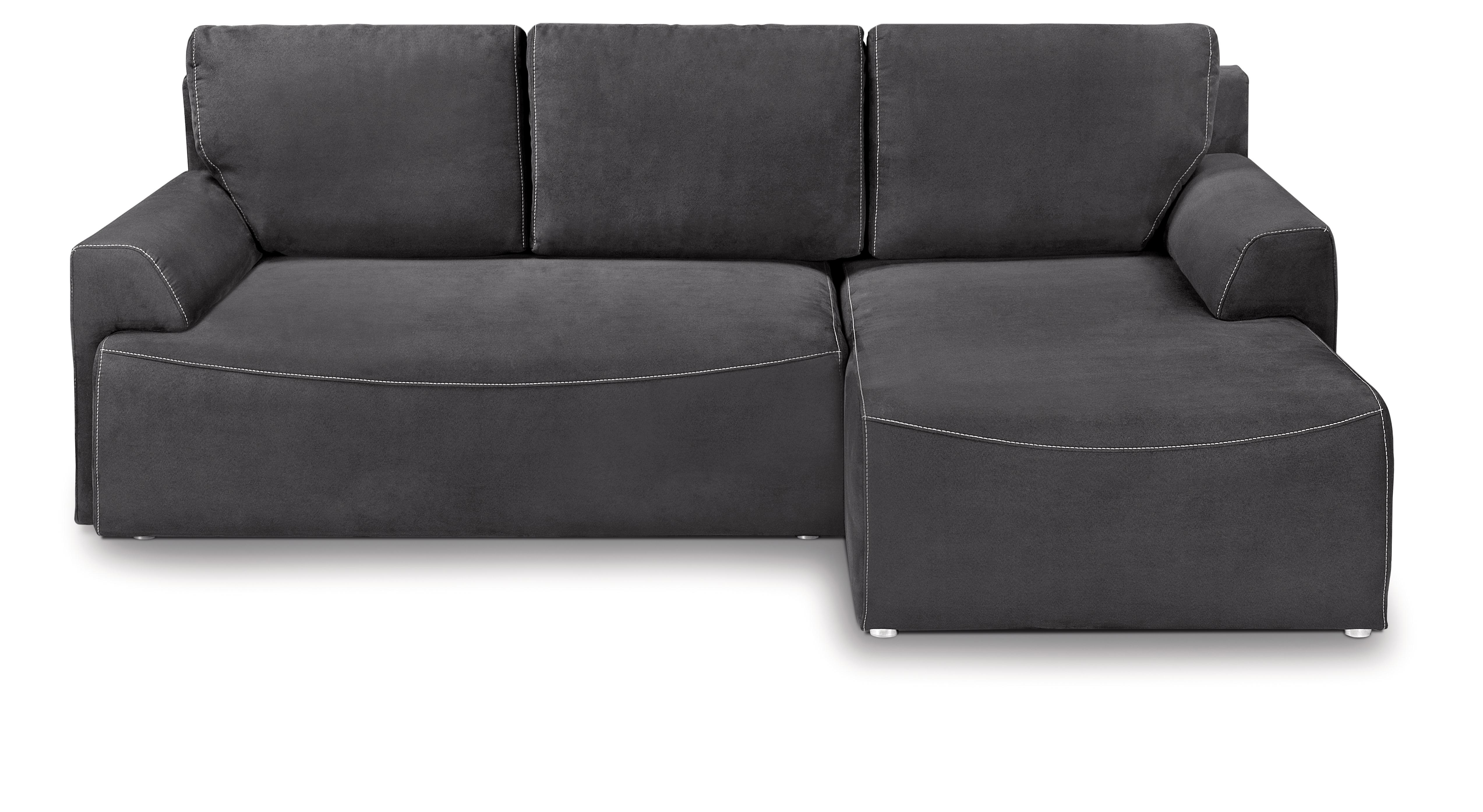 Rohová sedací souprava - BRW - City Lux 3DL URC (šedá) (P)