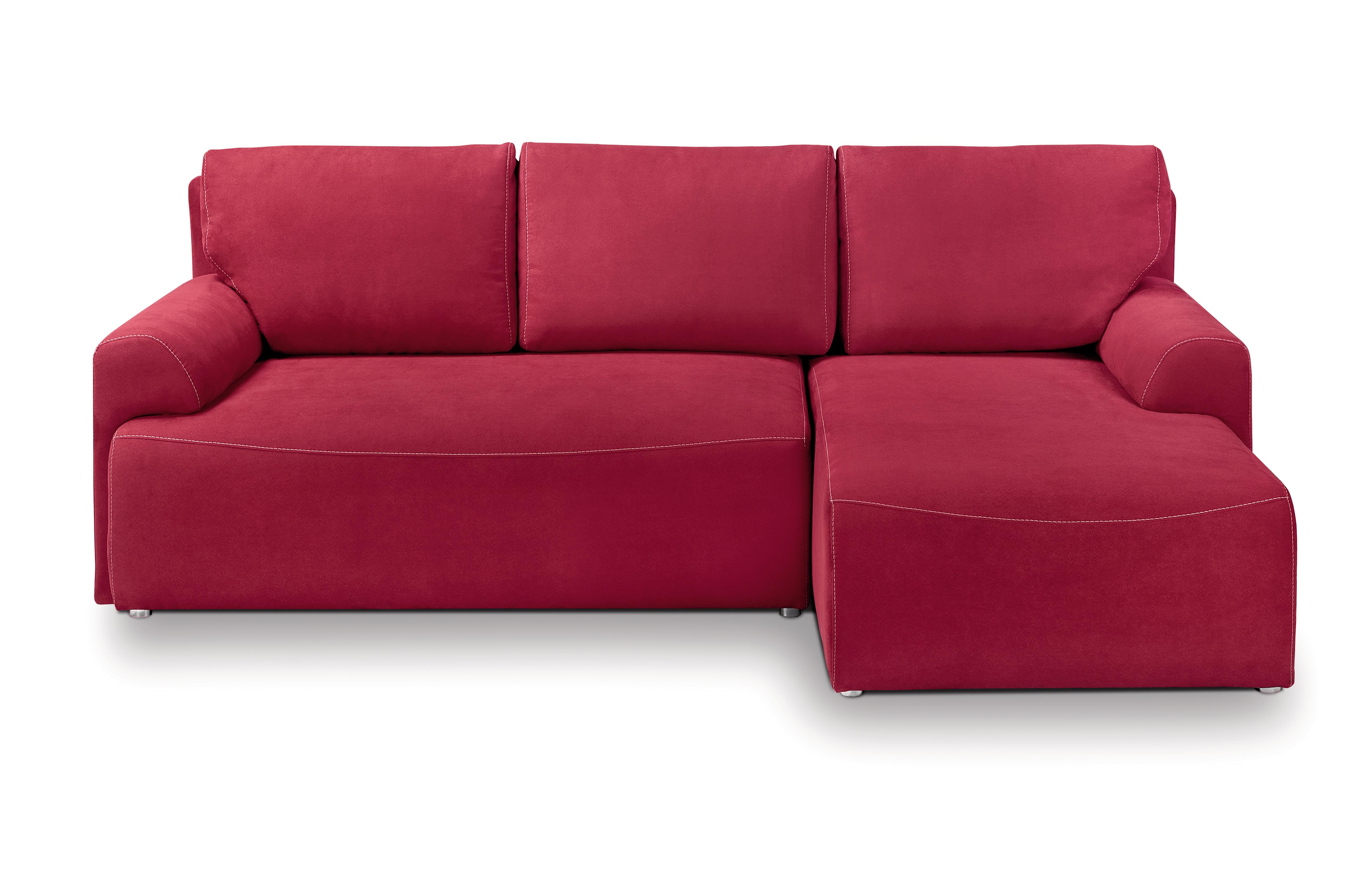 Rohová sedací souprava - BRW - City Lux 3DL URC (červená) (P)