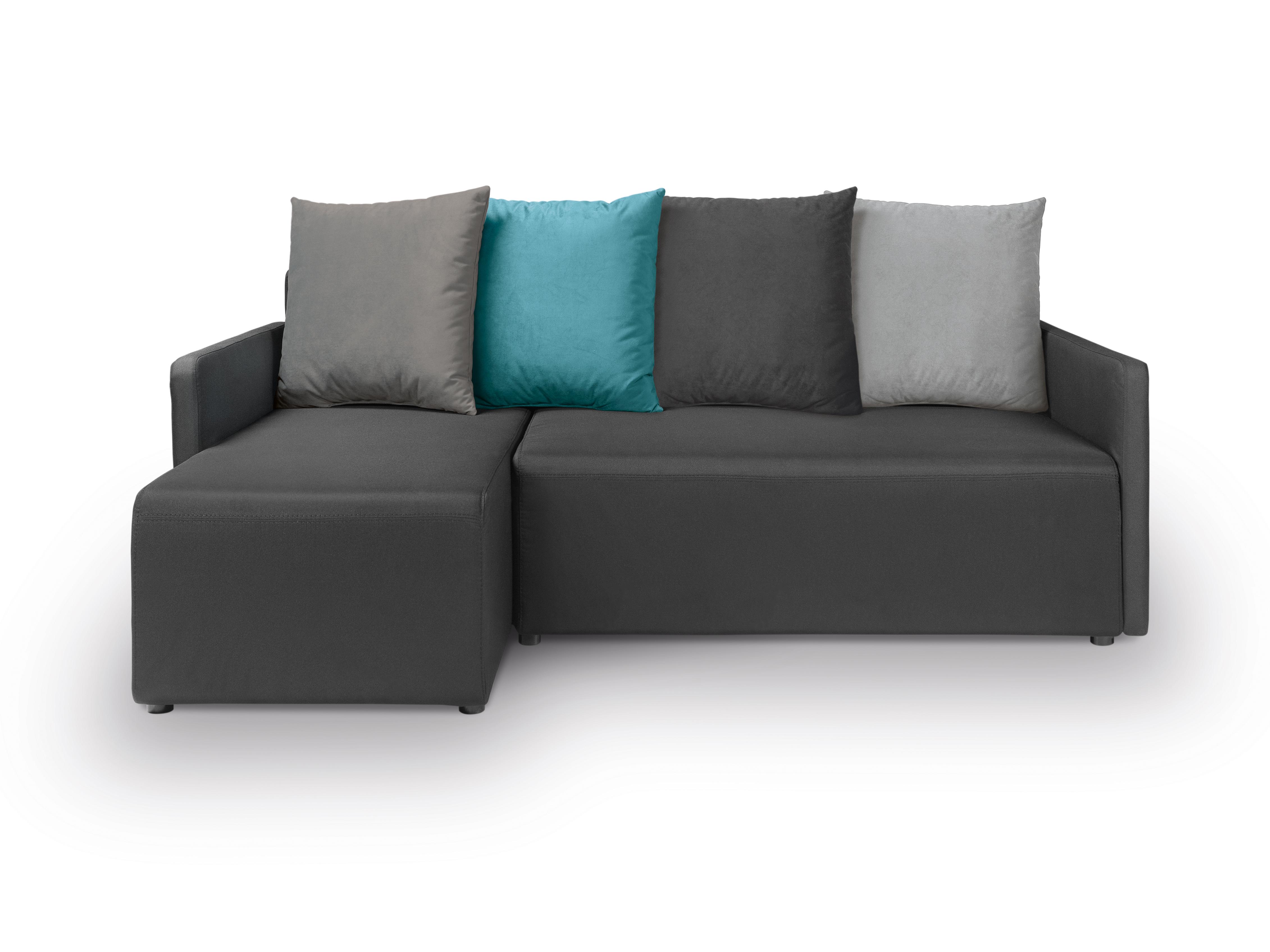 Rohová sedací souprava - BRW - Dany Lux 3DL.URC (černá) (L)