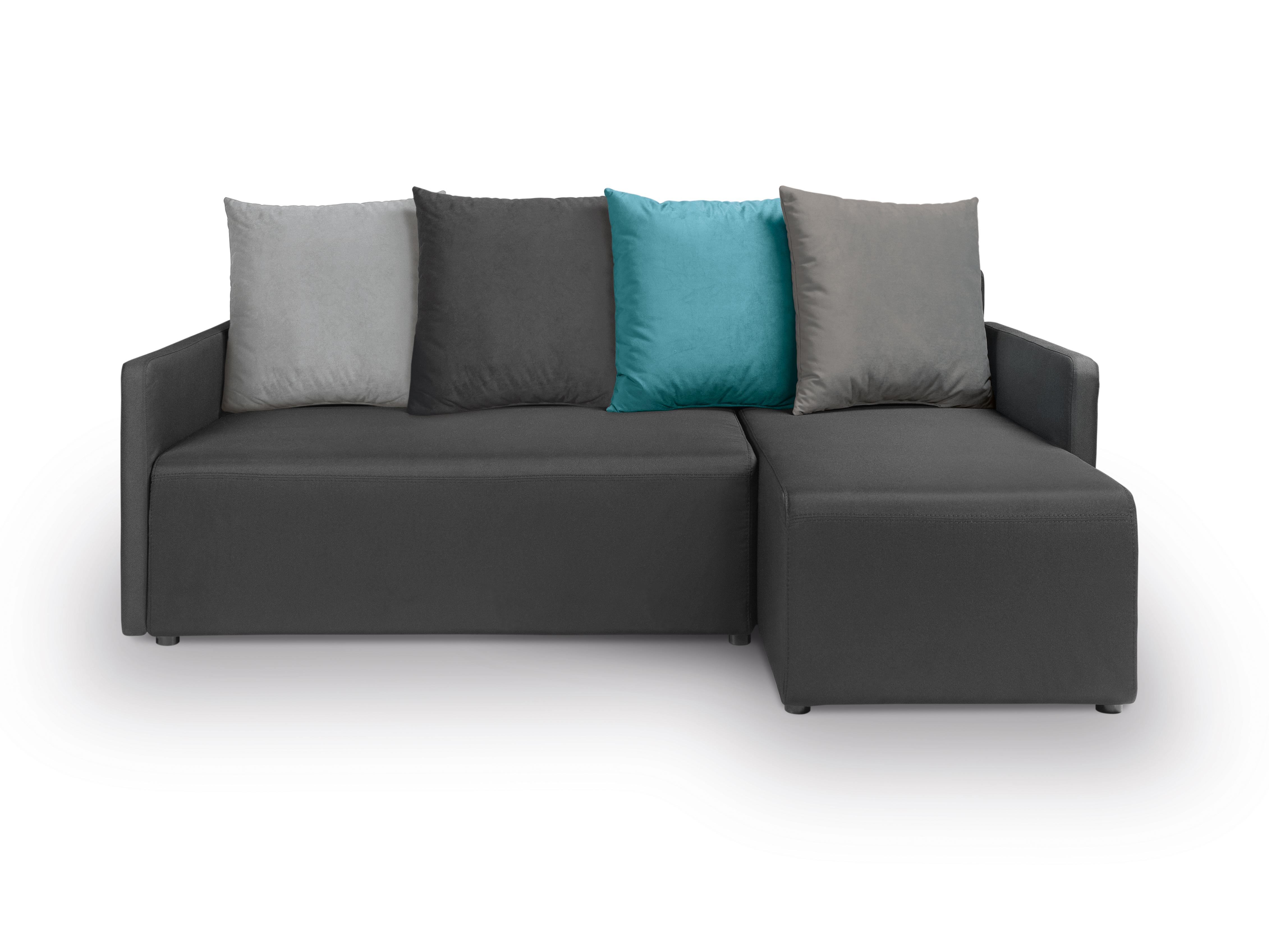 Rohová sedací souprava - BRW - Dany Lux 3DL.URC (černá) (P)