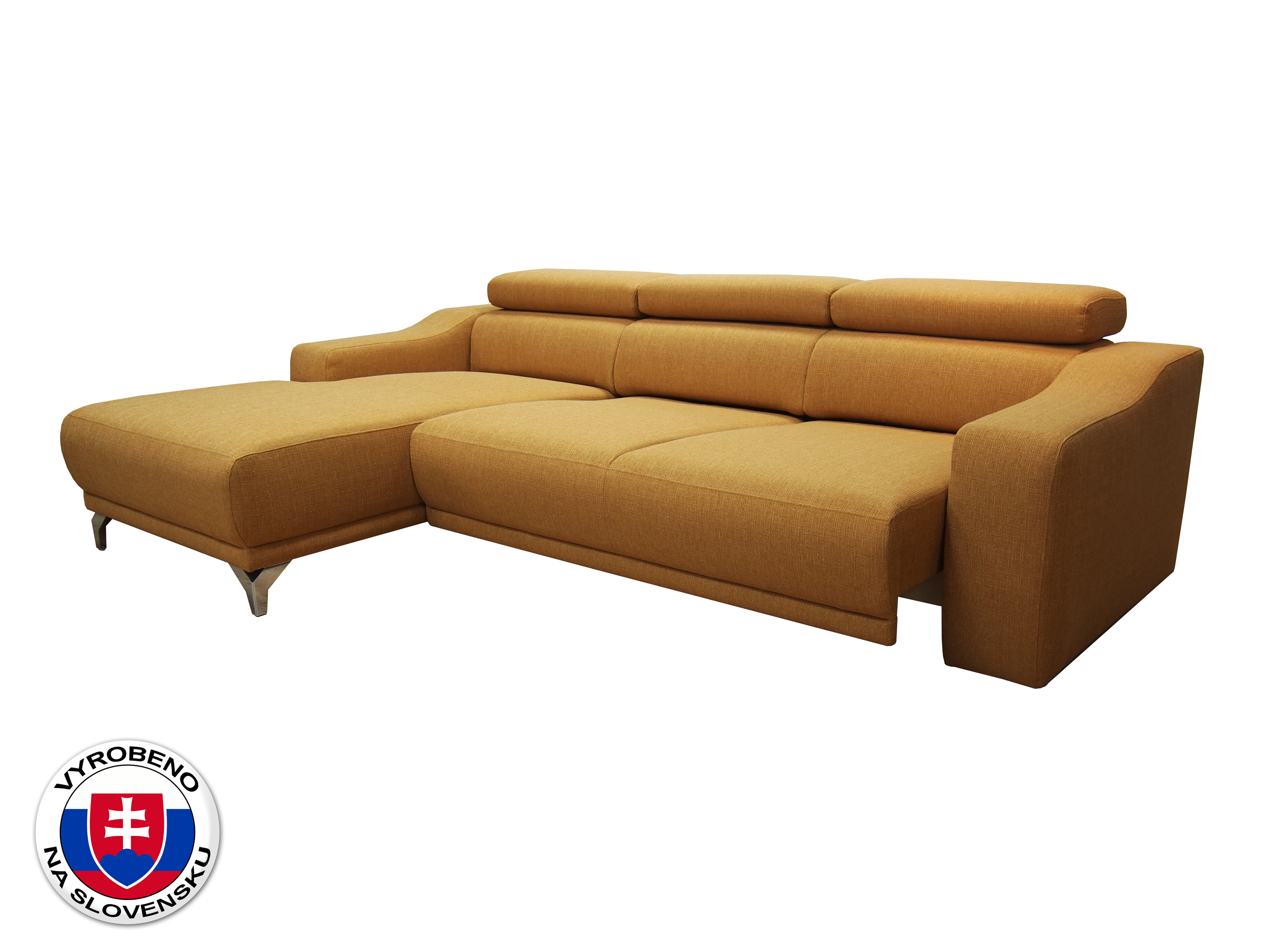 Rohová sedací souprava - BRW - Maya (žlutá) (L)