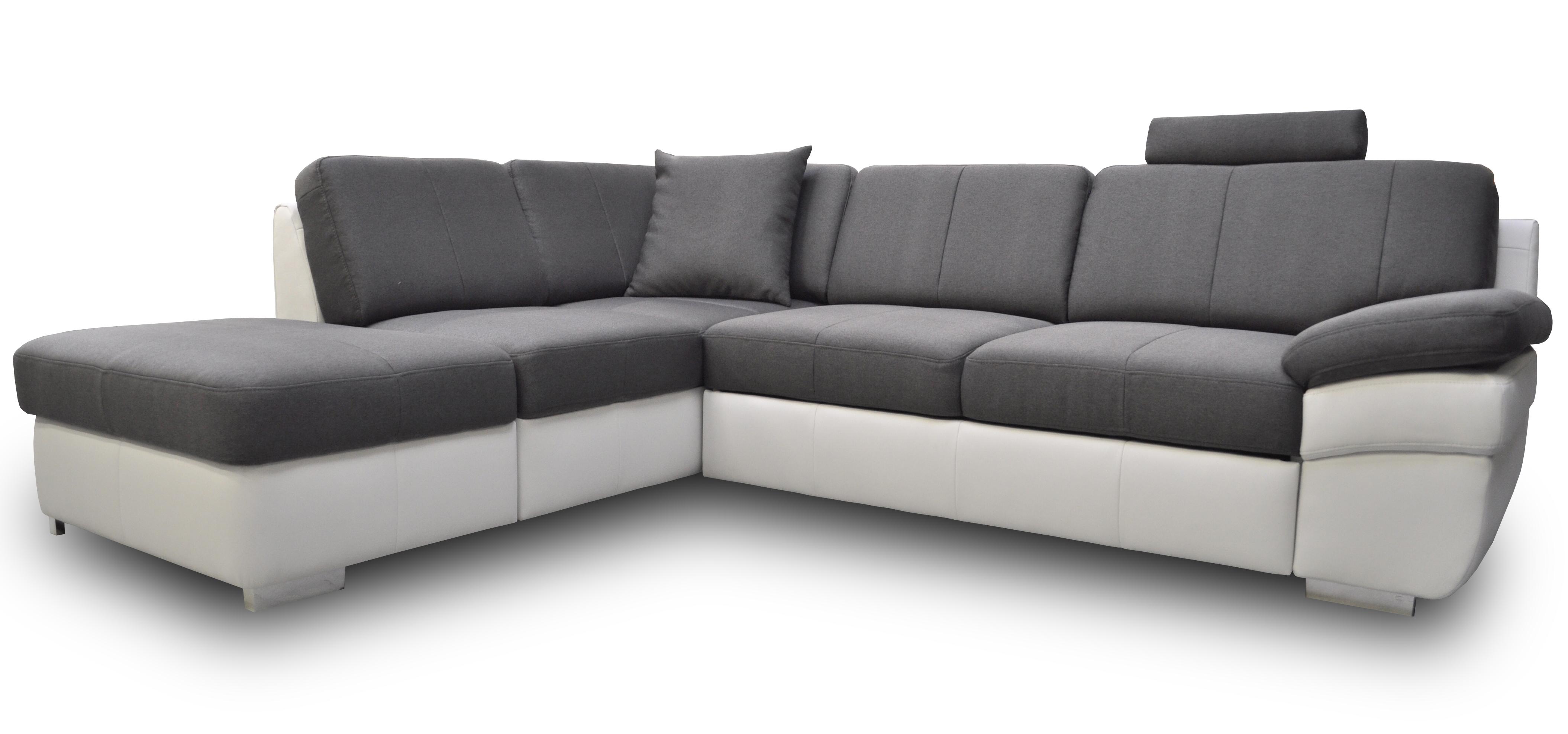 Rohová sedací souprava - BRW - Mon 1 (šedá + bílá) (P)
