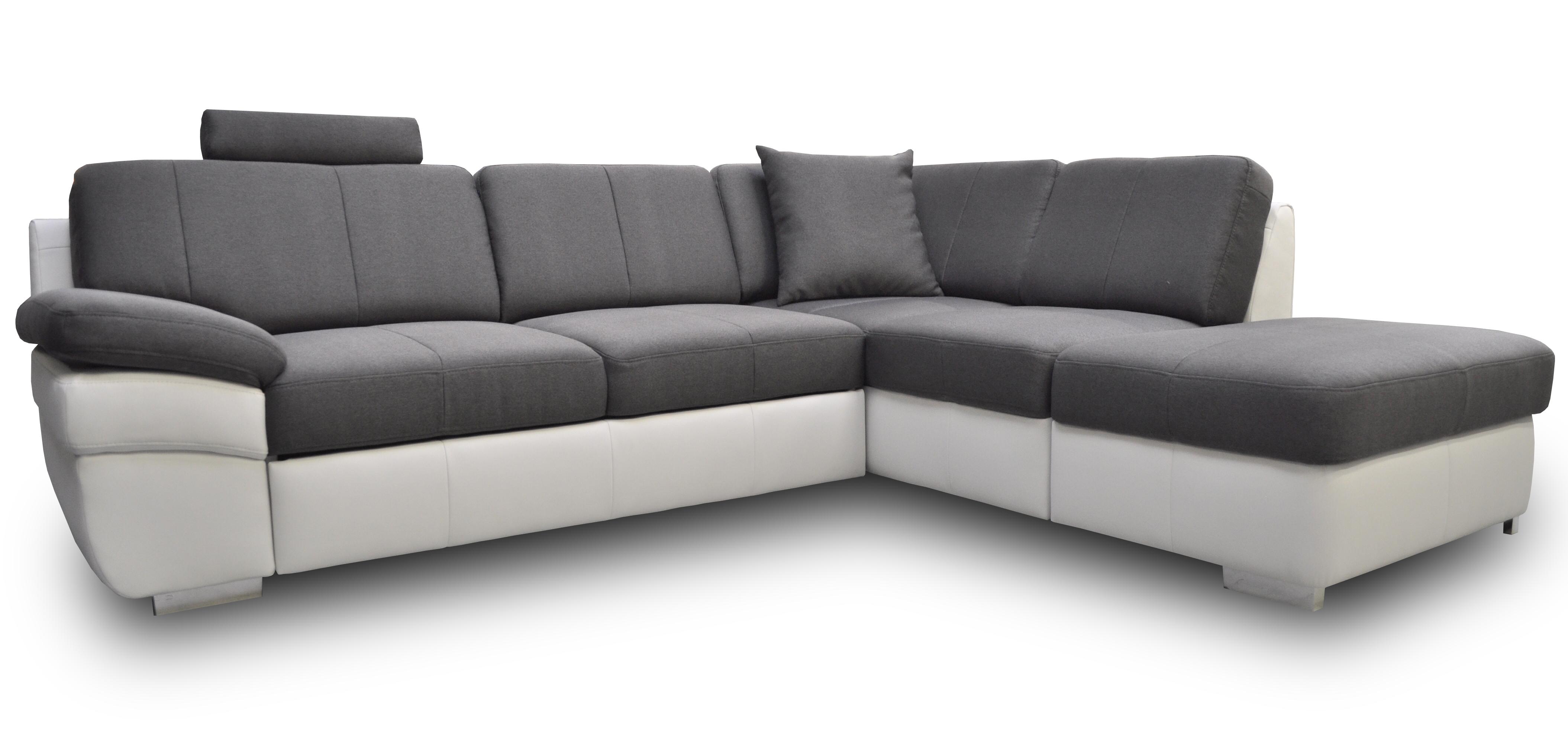 Rohová sedací souprava - BRW - Mon 1 (šedá + bílá) (L)