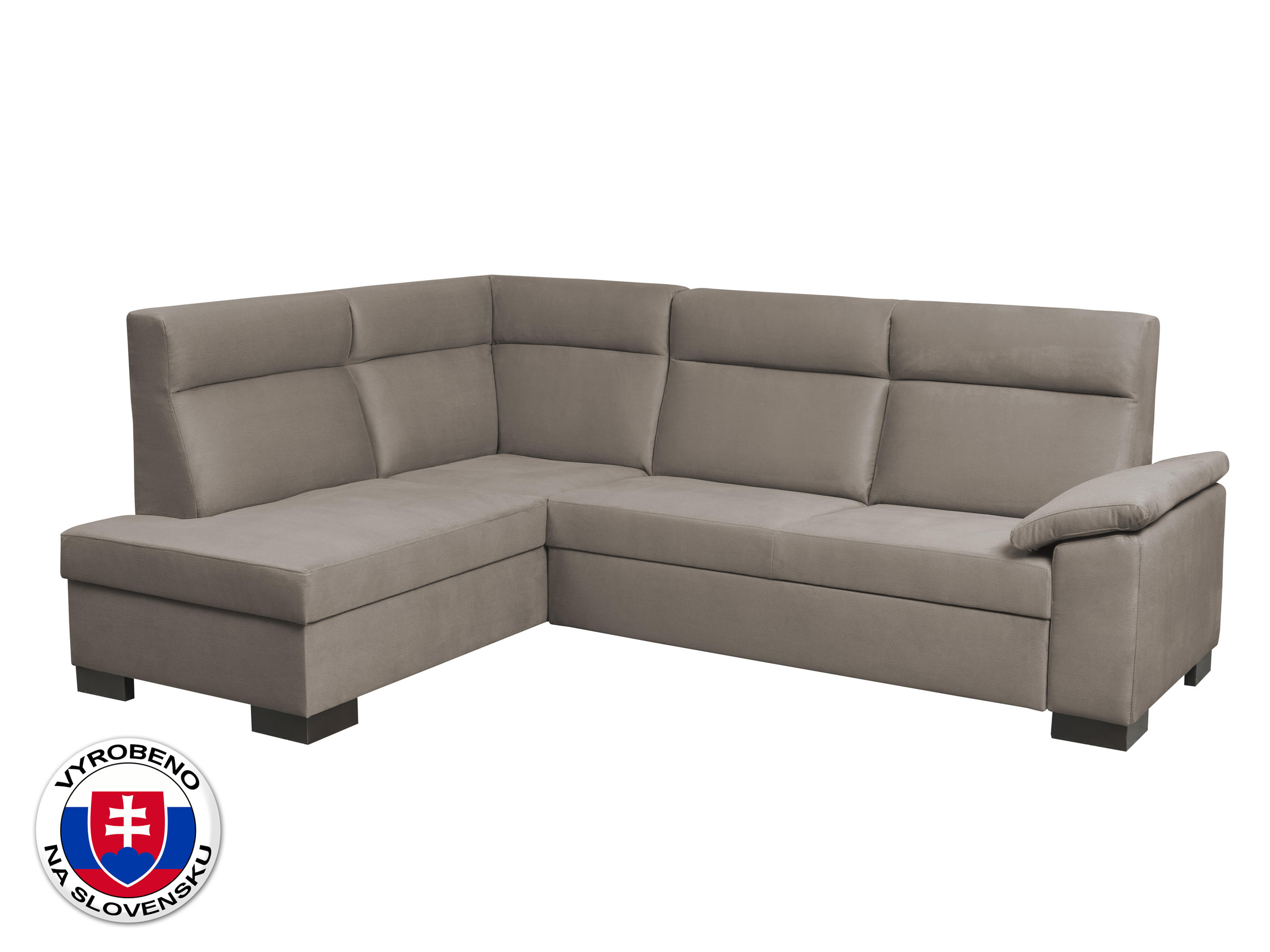 Rohová sedací souprava - BRW - San Remo Područka A (hnědá) (L) *dárek ZDARMA