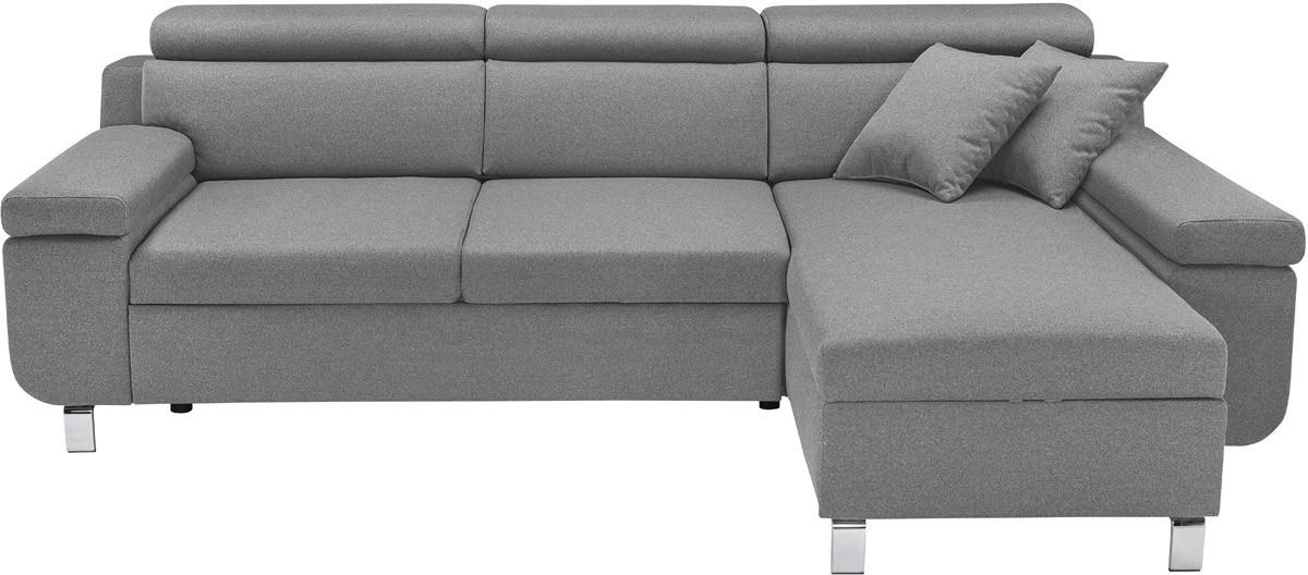 Rohová sedací souprava - BRW - Remi 2F.RECBK (šedá) (P)