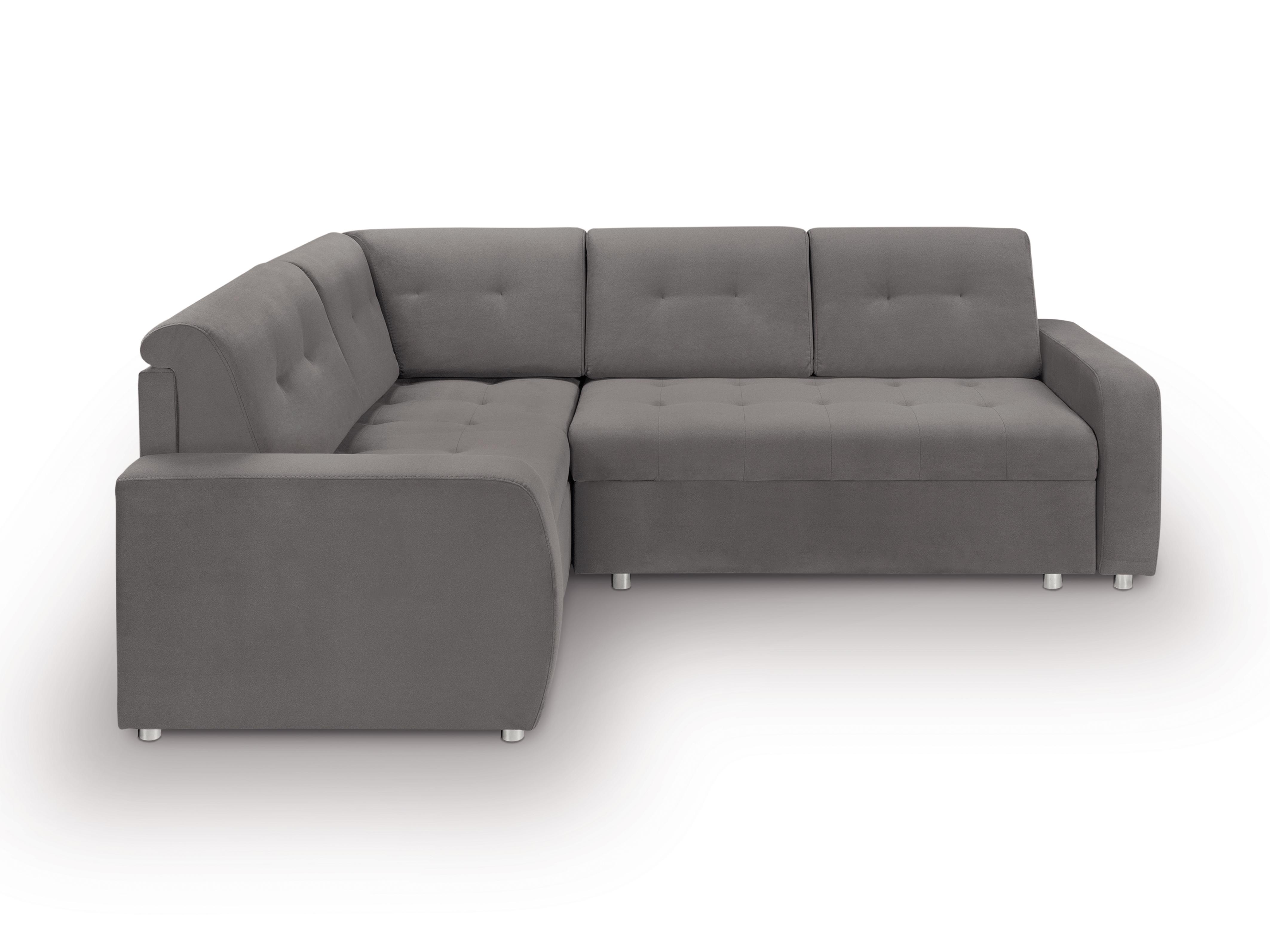 Rohová sedací souprava - BRW - Willy Lux 3DL RECBKMU (šedá) (L)