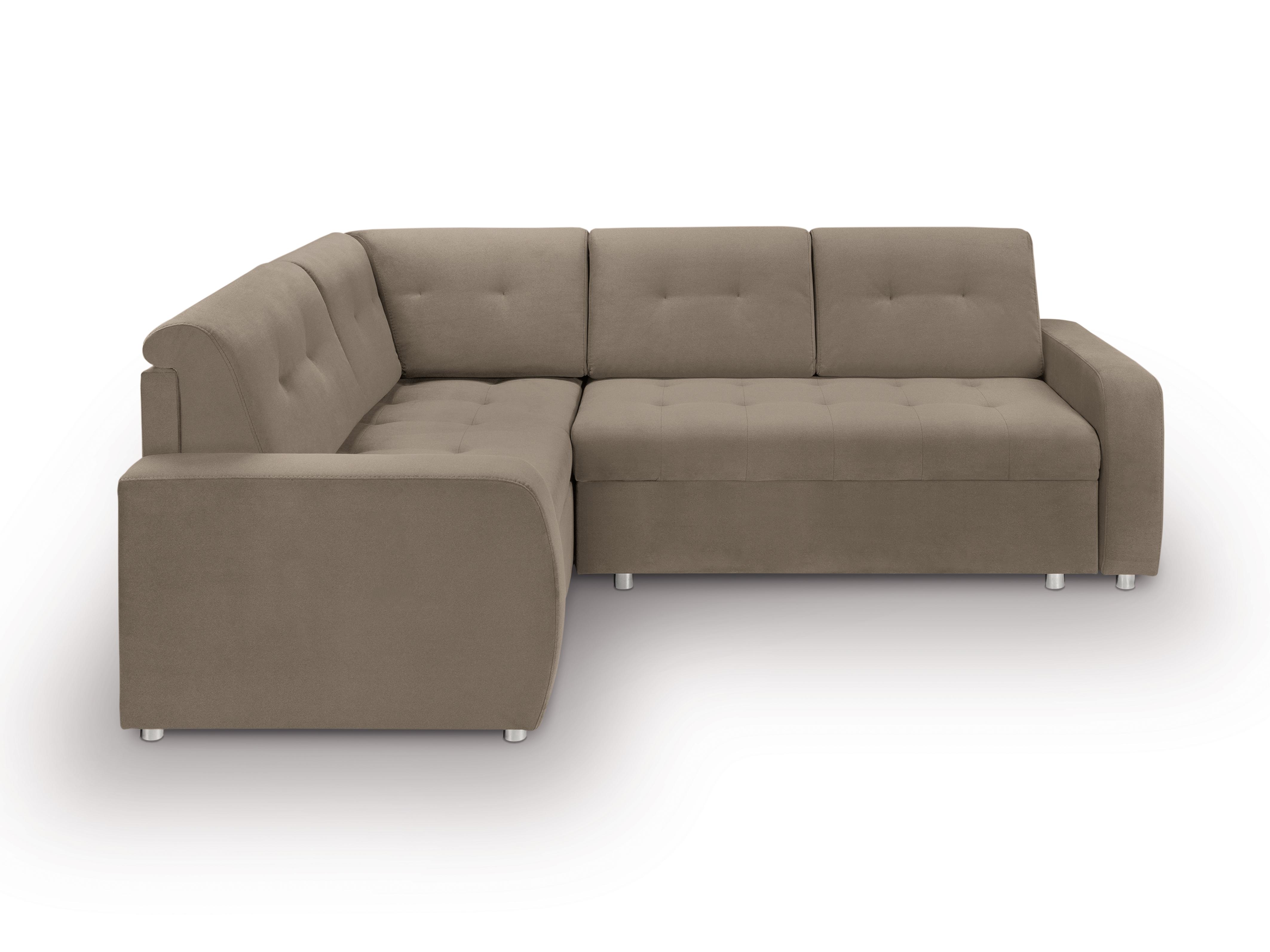 Rohová sedací souprava - BRW - Willy Lux 3DL RECBKMU (hnědá) (L)