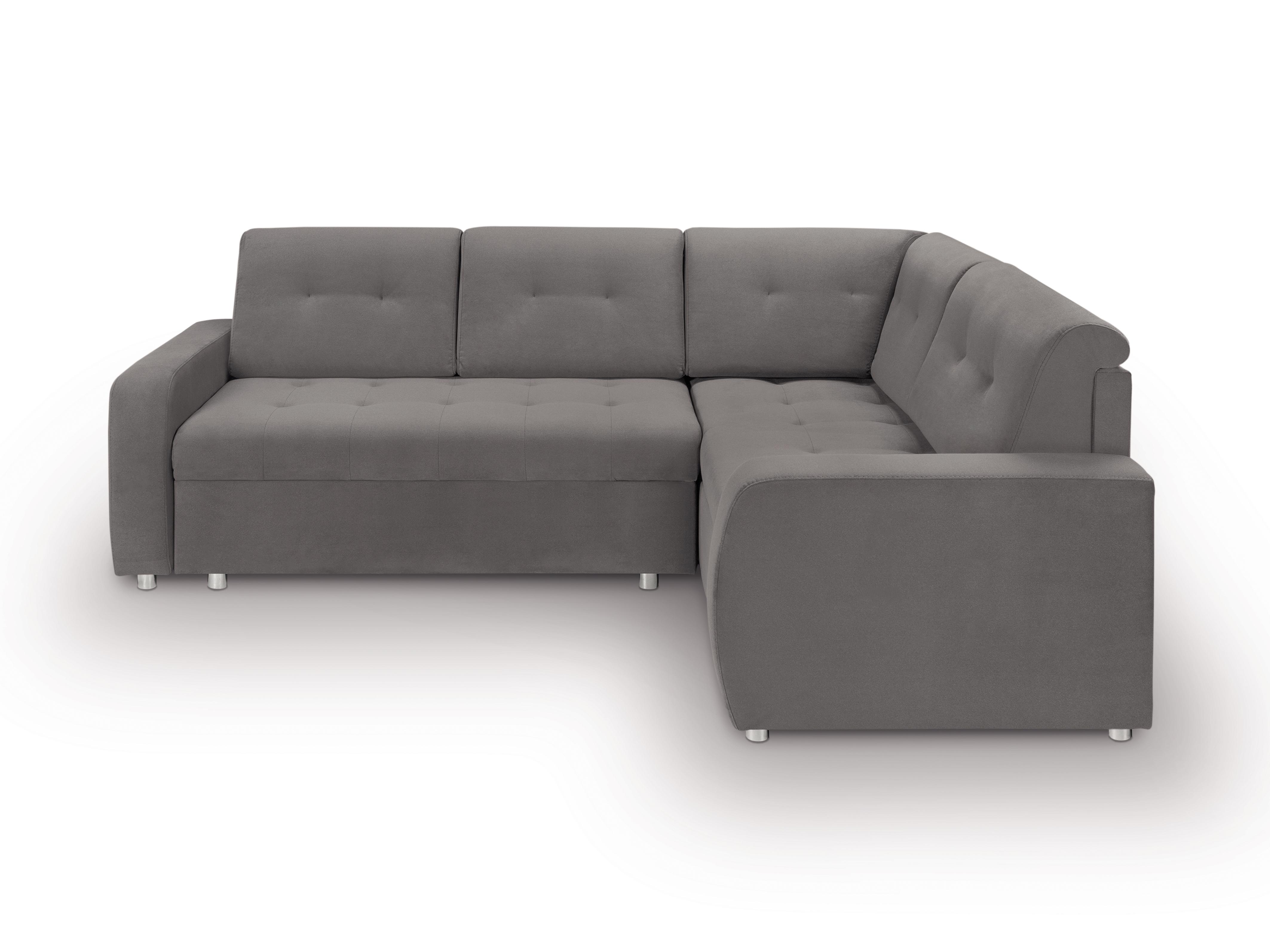 Rohová sedací souprava - BRW - Willy Lux 3DL RECBKMU (šedá) (P)