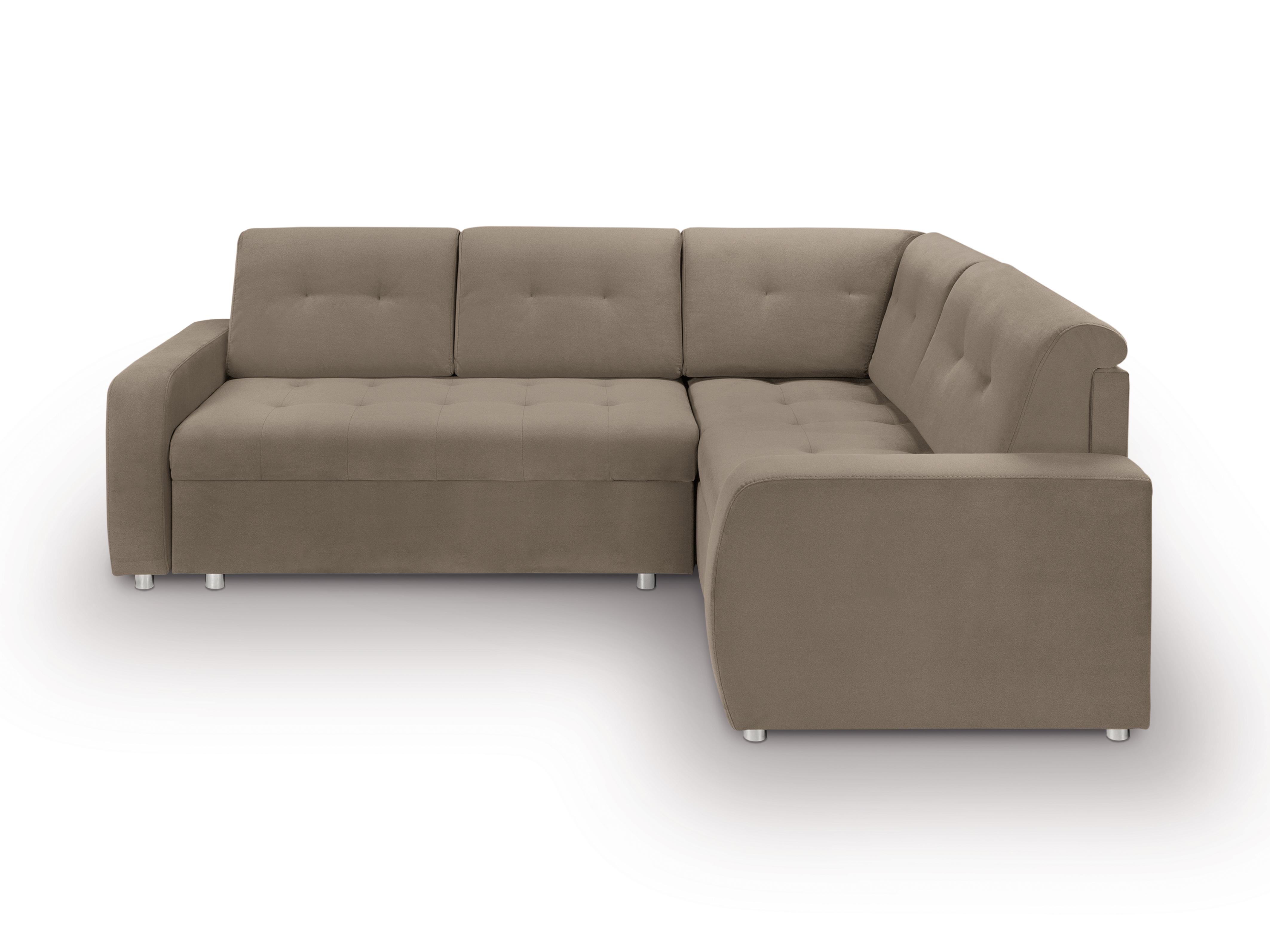 Rohová sedací souprava - BRW - Willy Lux 3DL RECBKMU (hnědá) (P)