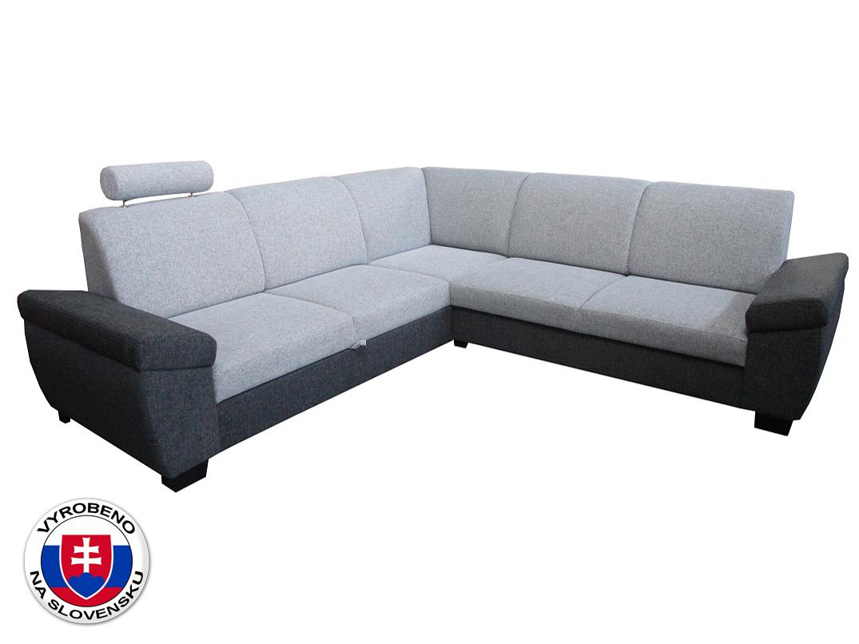 Rohová sedací souprava - BRW - NOEL 1 tmavě šedá (L)