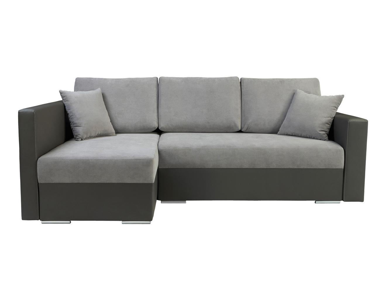 Rohová sedací souprava - BRW - Kris Lux 3DL.URC šedá (L)