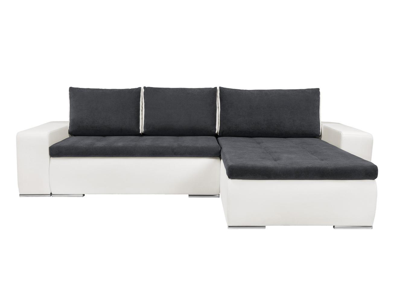 Rohová sedací souprava - BRW - Marina II Lux 3DL.URC bílá/modrošedá (P)