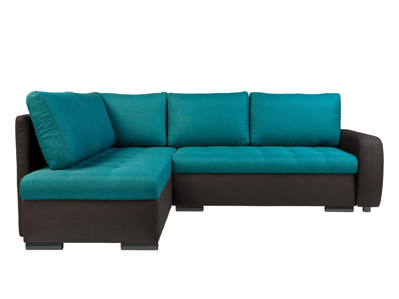 Rohová sedací souprava - BRW - Olimp Lux 3DL.RECBKMU LED šedá/tyrkysová (L) (s osvětlením)