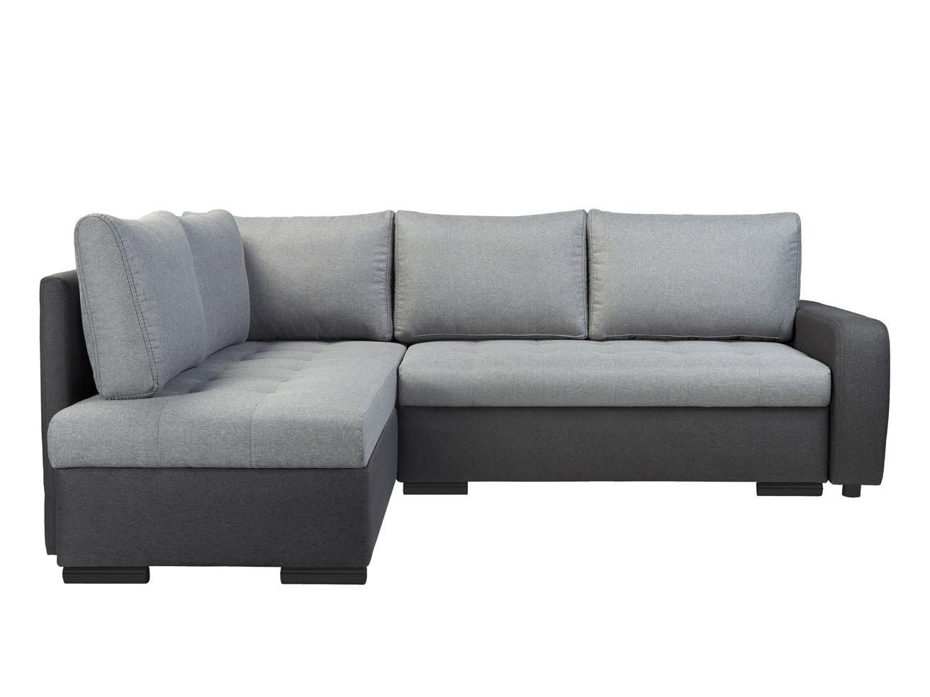 Rohová sedací souprava - BRW - Olimp Lux 3DL.RECBKMU LED šedá (L) (s osvětlením)