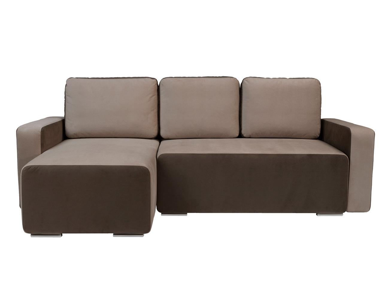 Rohová sedací souprava - BRW - Possi Lux 3DL.URC LED hnědá (L) (s osvětlením)