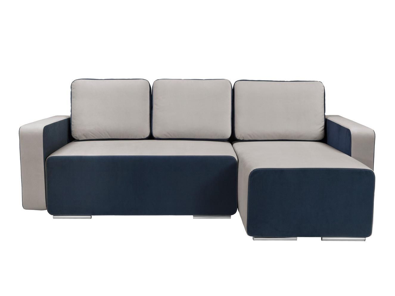 Rohová sedací souprava - BRW - Possi Lux 3DL.URC LED modrá/šedá (L) (s osvětlením)