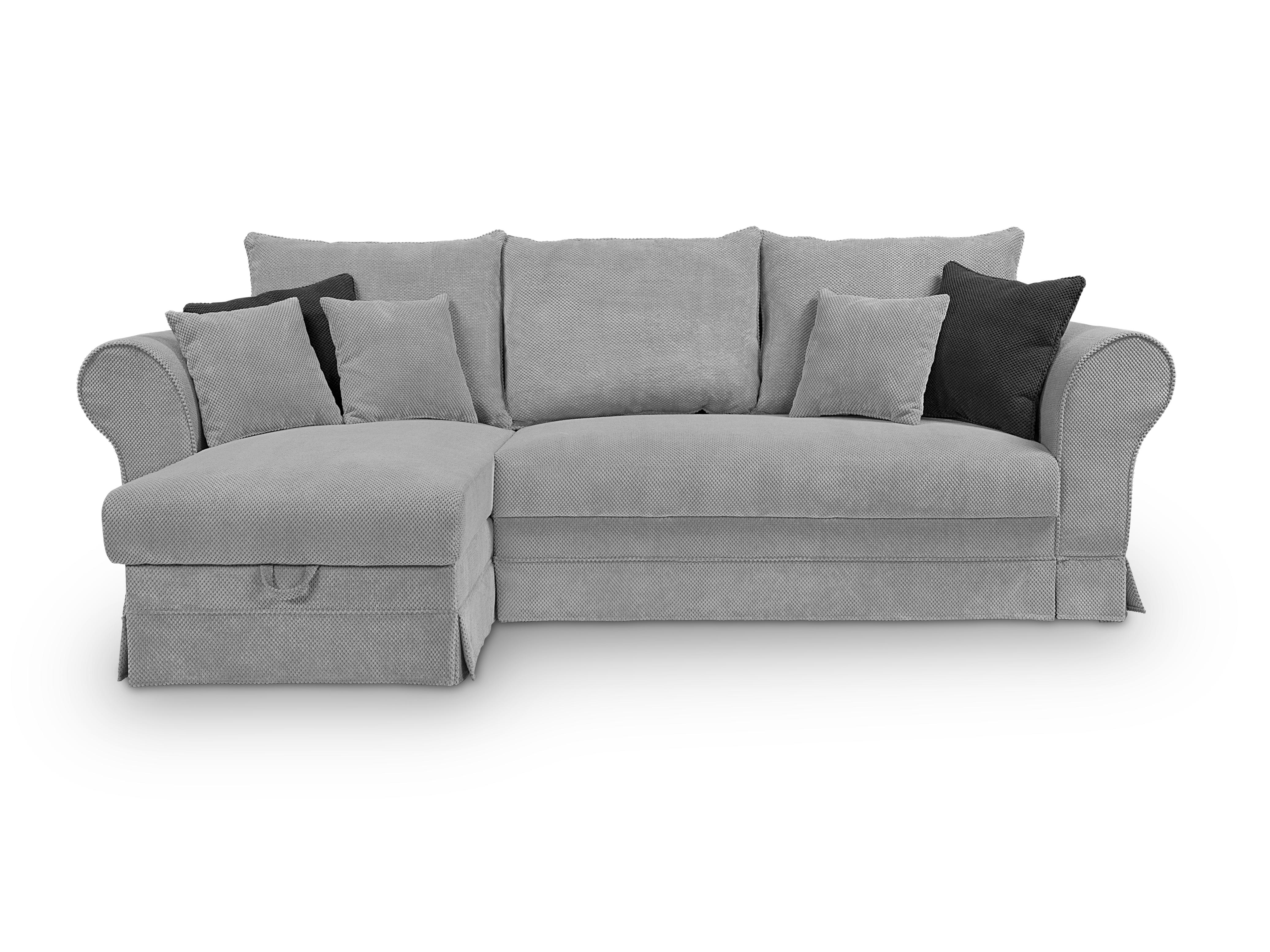 Rohová sedací souprava - BRW - Margaret II Lux 3DL.URCBK (šedá) (L)
