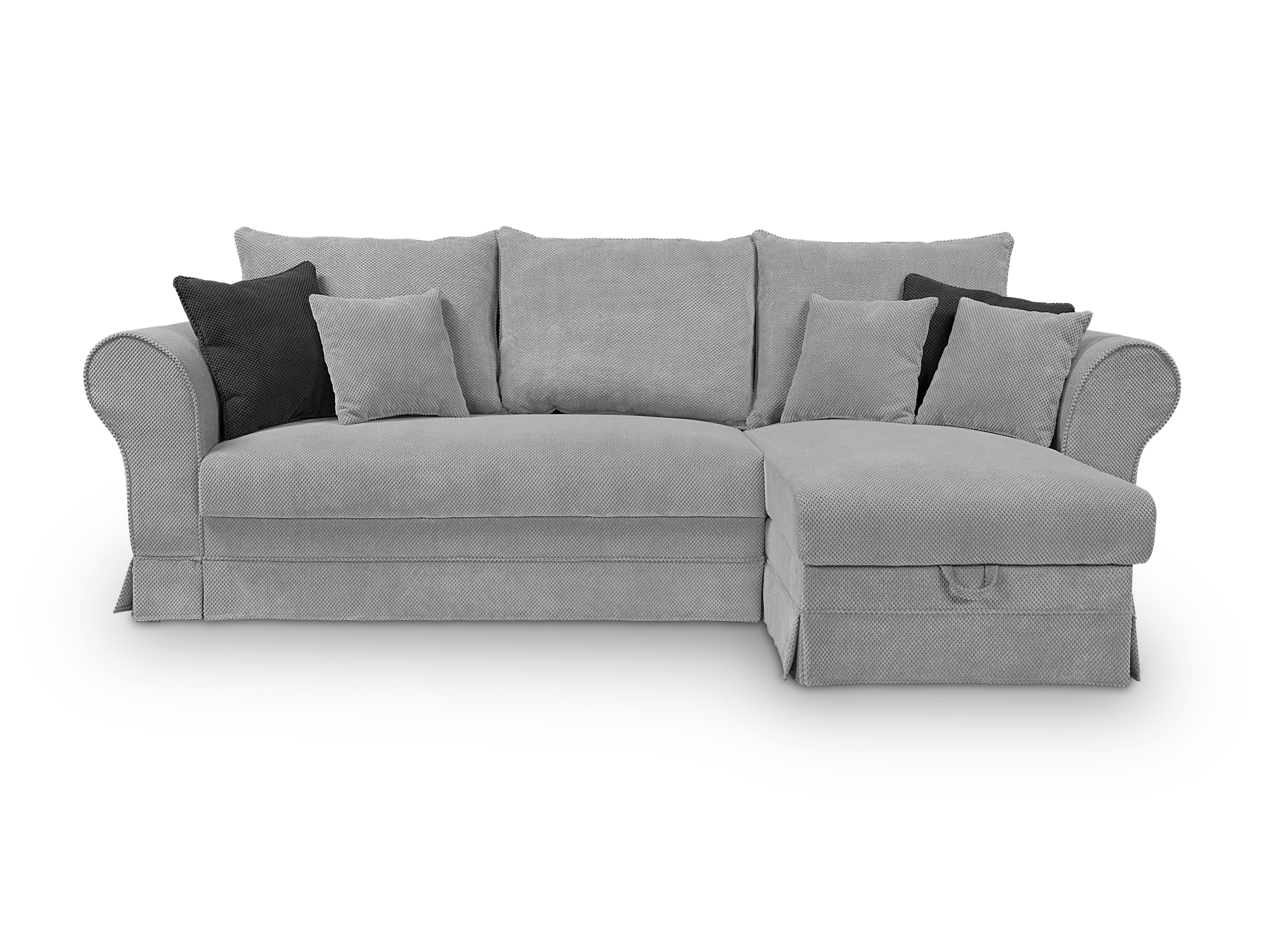Rohová sedací souprava - BRW - Margaret II Lux 3DL.URCBK (šedá) (P)