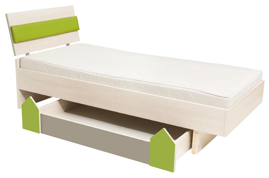 Jednolůžková postel 90 cm - BRW - Strzalka - LOZ1S/90