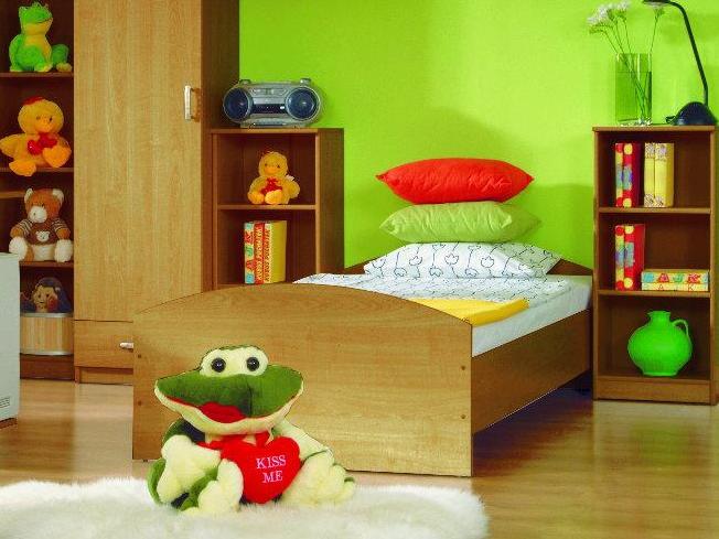 Jednolůžková postel 90 cm - BRW - TIP TOP - TLOZ 90W (Olše)