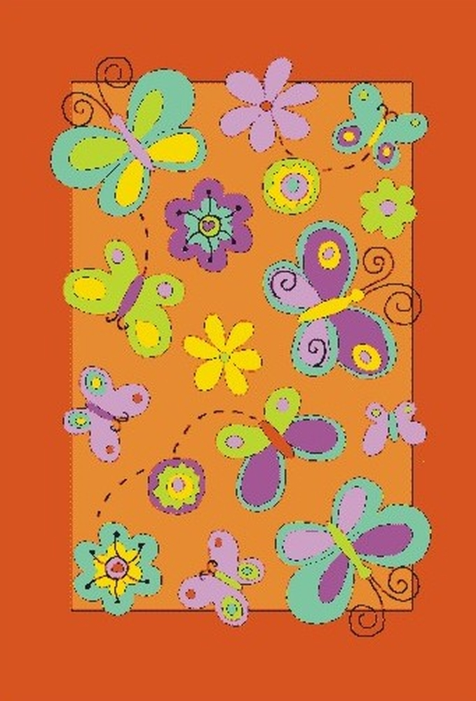Ručně všívaný koberec (tuftovaný) - Bakero - Kids Butterfly Orange