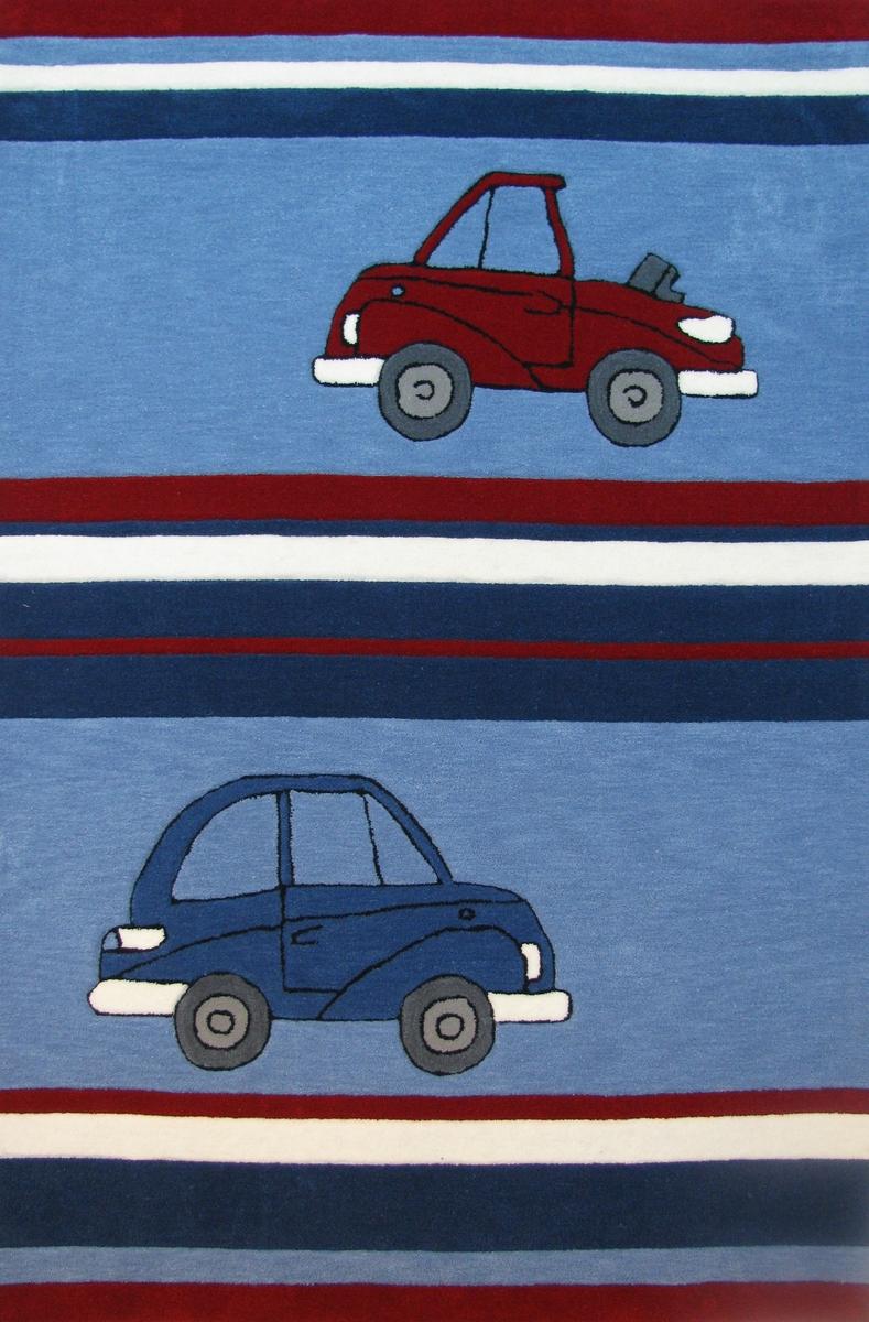 Ručně všívaný koberec (tuftovaný) - Bakero - Kids Cars Blue
