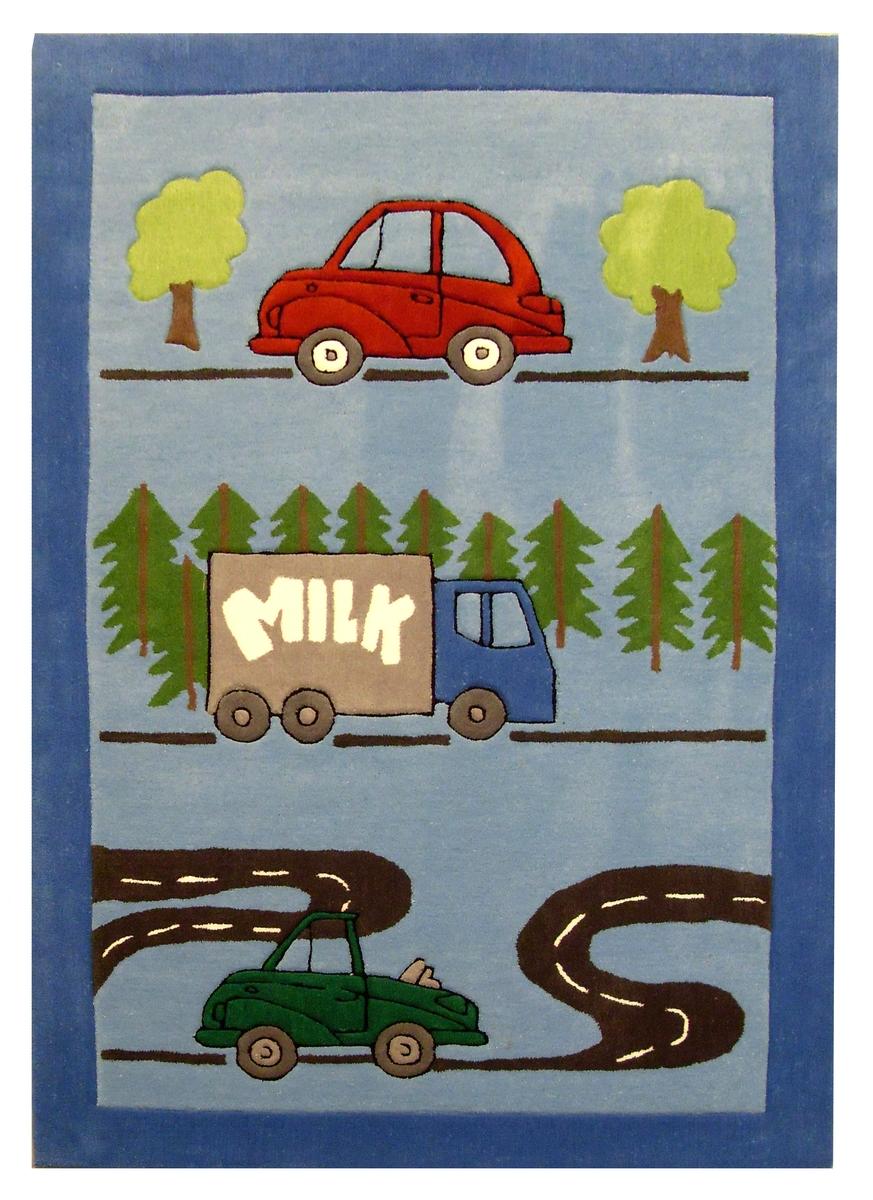 Ručně všívaný koberec (tuftovaný) - Bakero - Kids Cars Multi