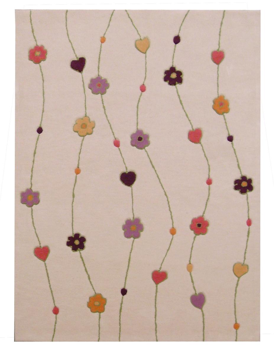 Ručně všívaný koberec (tuftovaný) - Bakero - Kids Flowers Beige