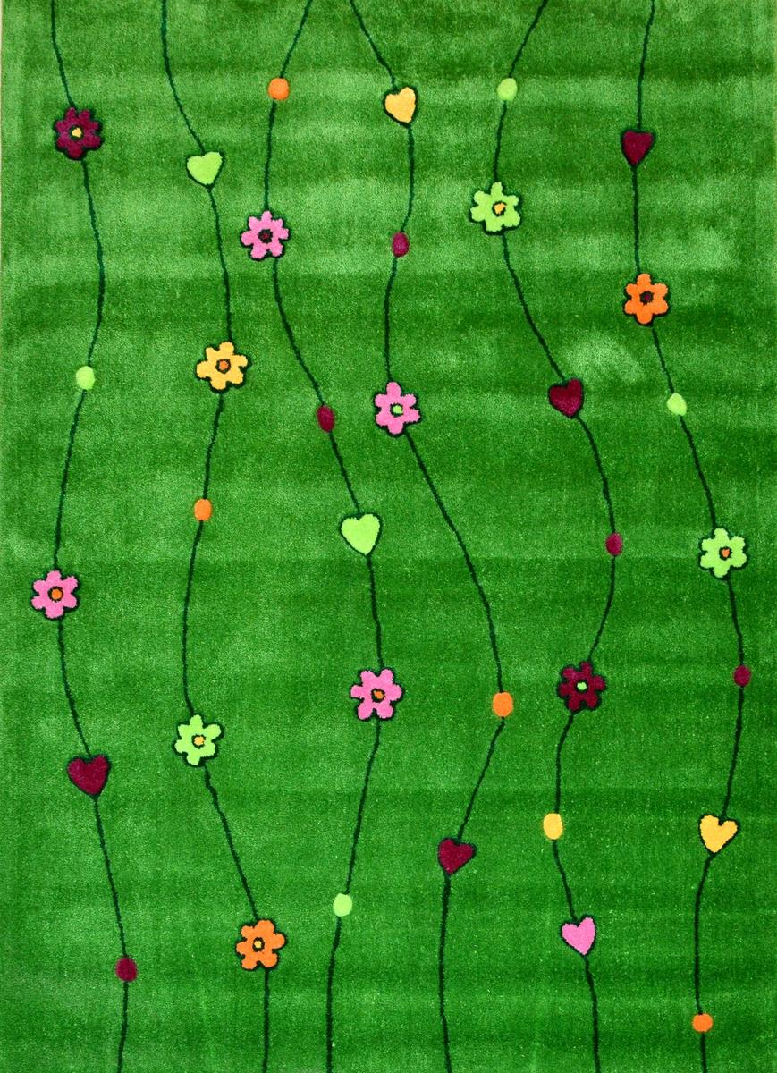 Ručně všívaný koberec (tuftovaný) - Bakero - Kids Flowers Green