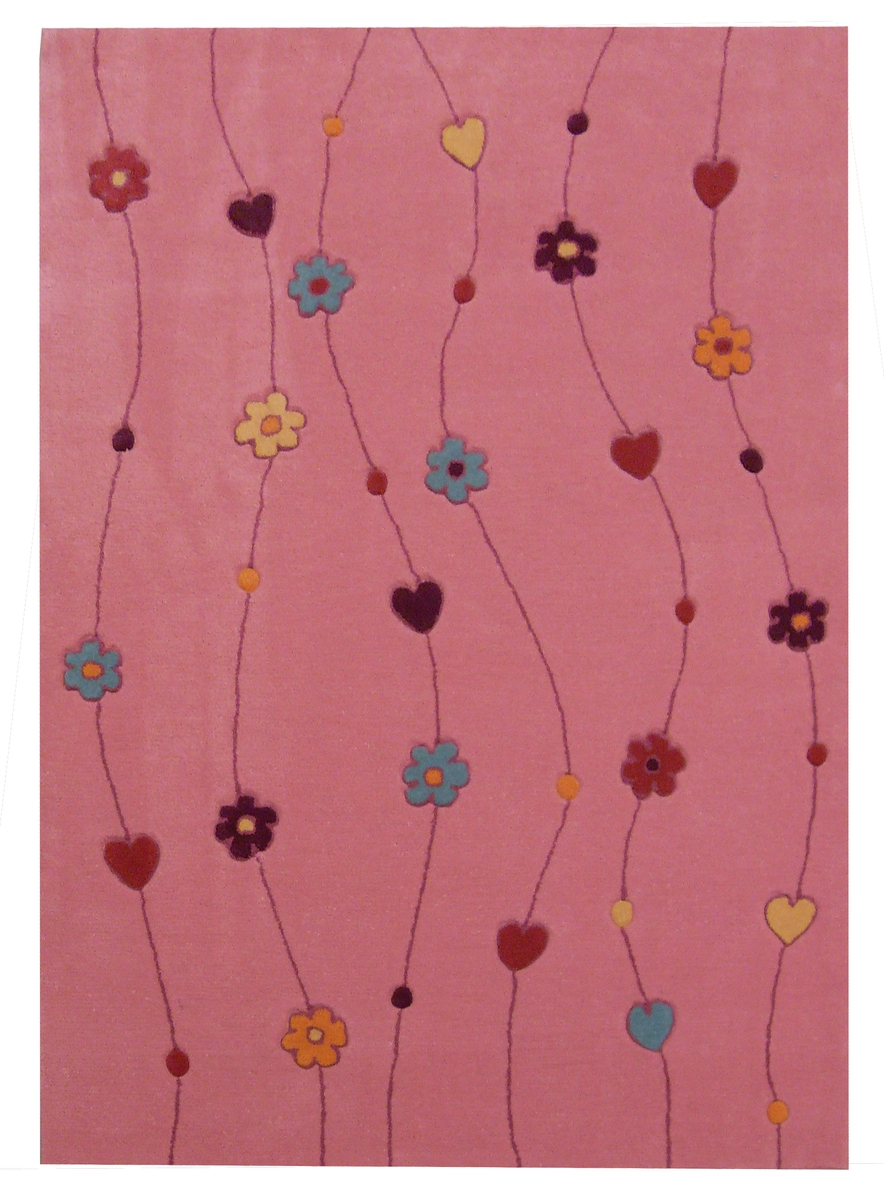 Ručně všívaný koberec (tuftovaný) - Bakero - Kids Flowers Pink