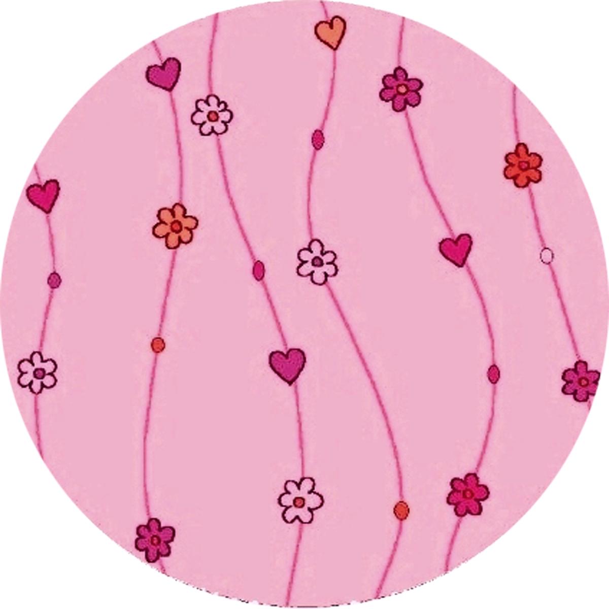 Ručně všívaný koberec (tuftovaný) - Bakero - Kids Flowers Pink Round