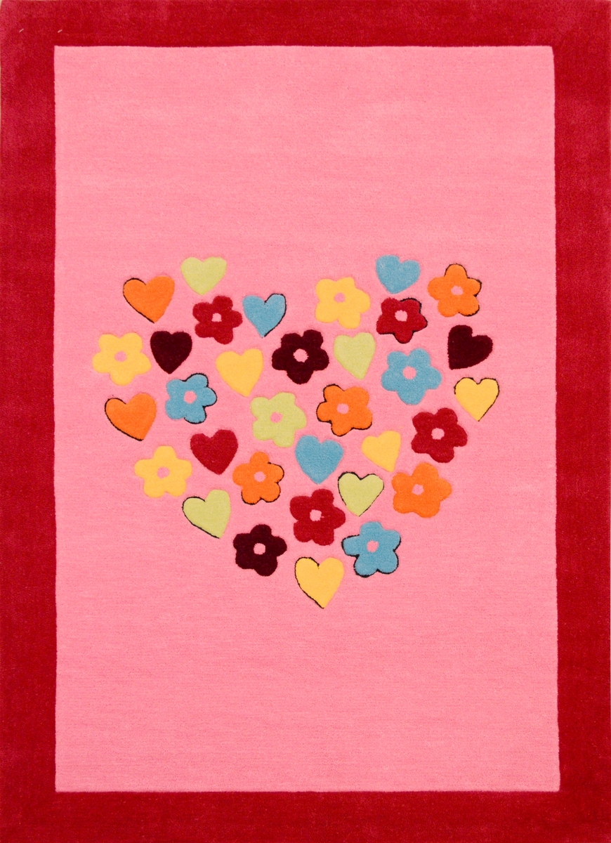 Ručně všívaný koberec (tuftovaný) - Bakero - Kids Heart Pink