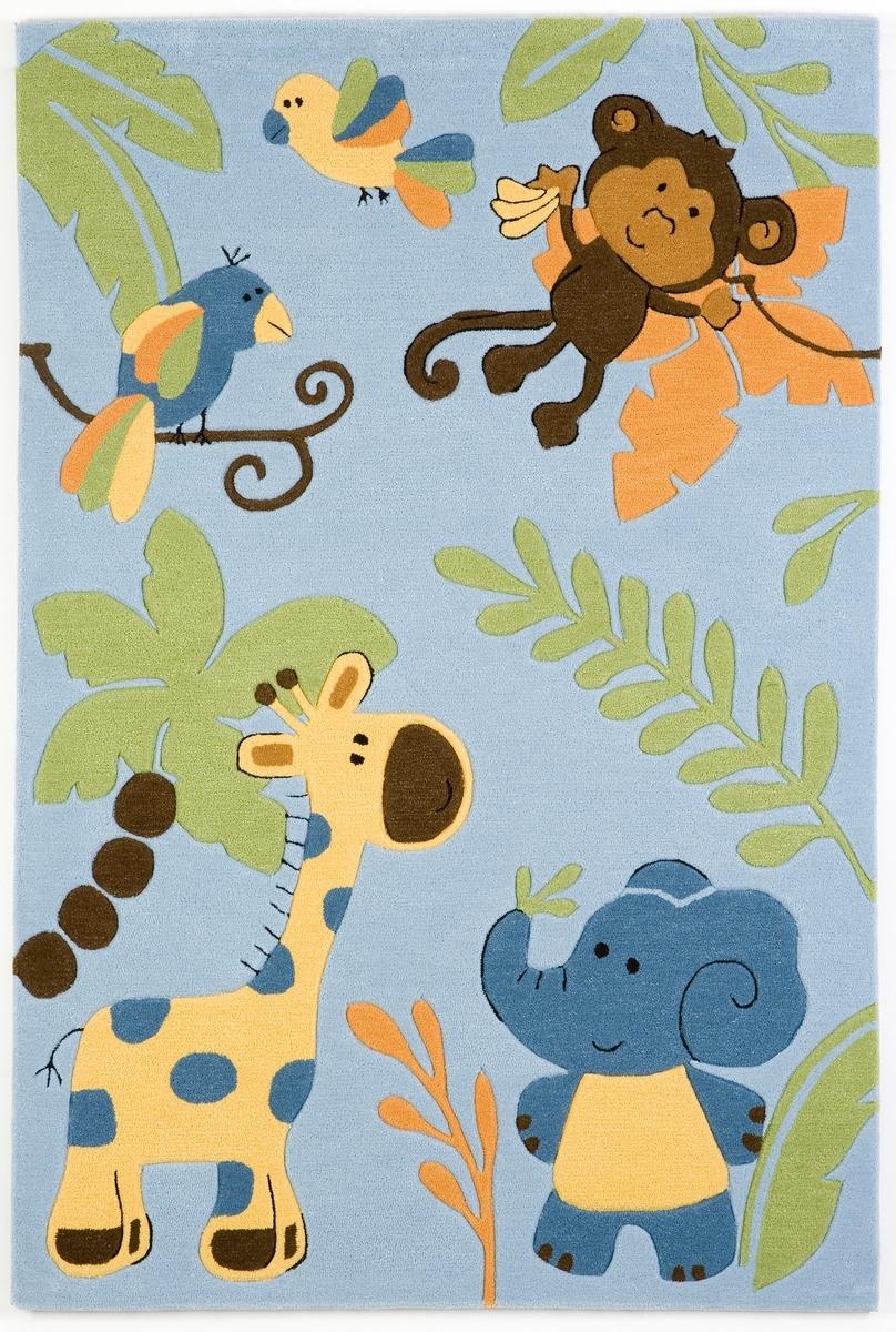 Ručně všívaný koberec (tuftovaný) - Bakero - Kids Jungle Blue