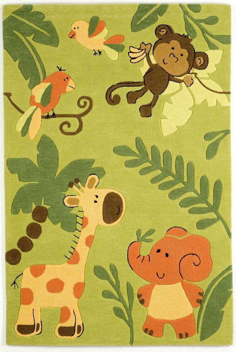 Ručně všívaný koberec (tuftovaný) - Bakero - Kids Jungle Green