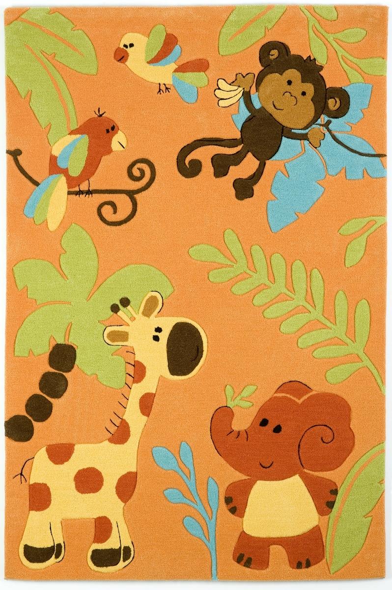 Ručně všívaný koberec (tuftovaný) - Bakero - Kids Jungle Orange