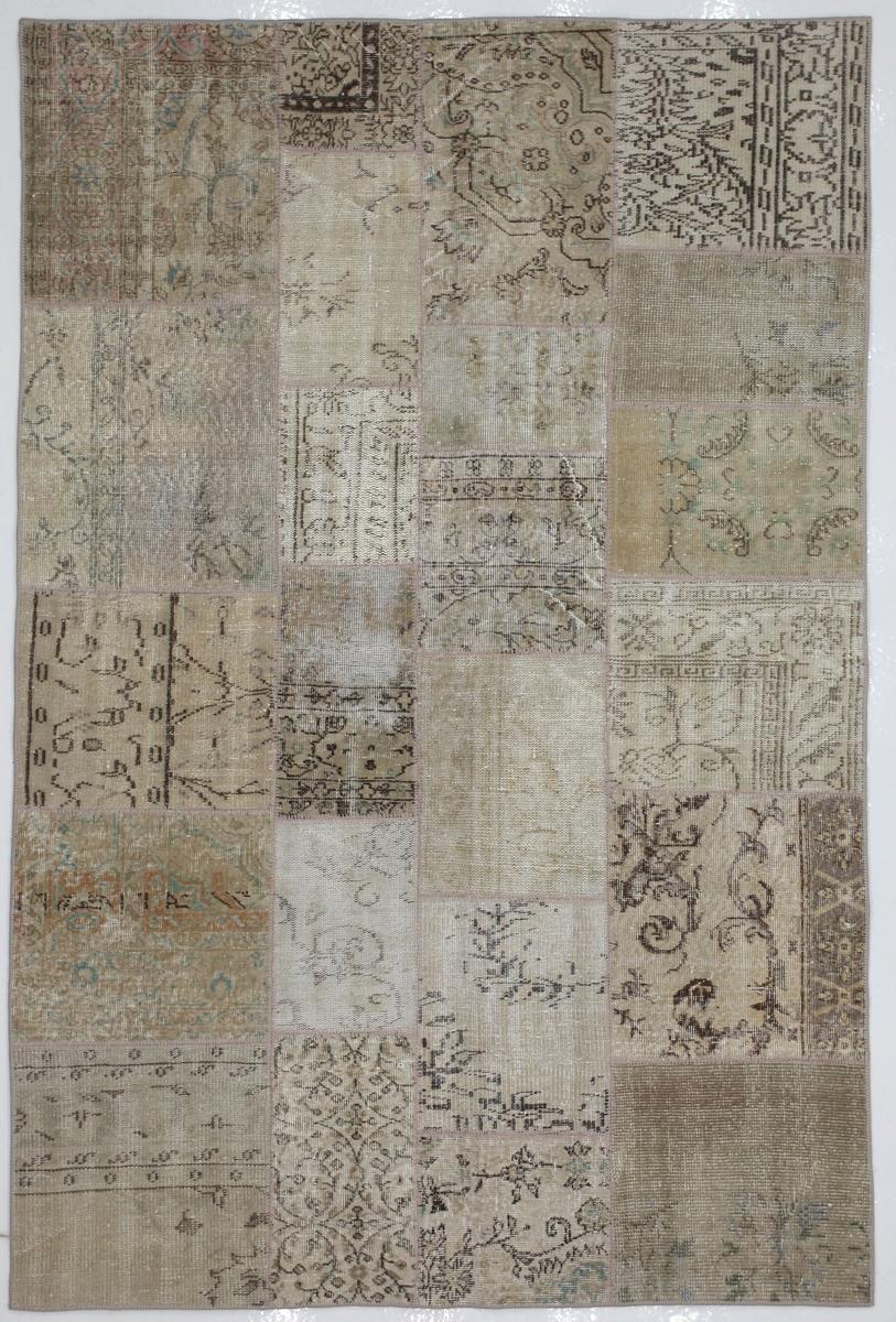 Ručně vázaný koberec - Bakero - Patchwork Beige