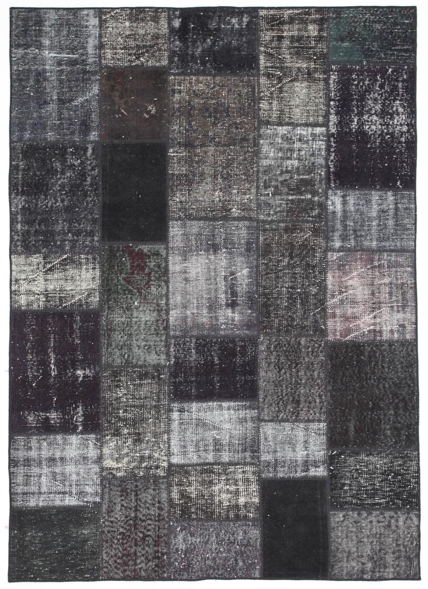 Ručně vázaný koberec - Bakero - Patchwork Black