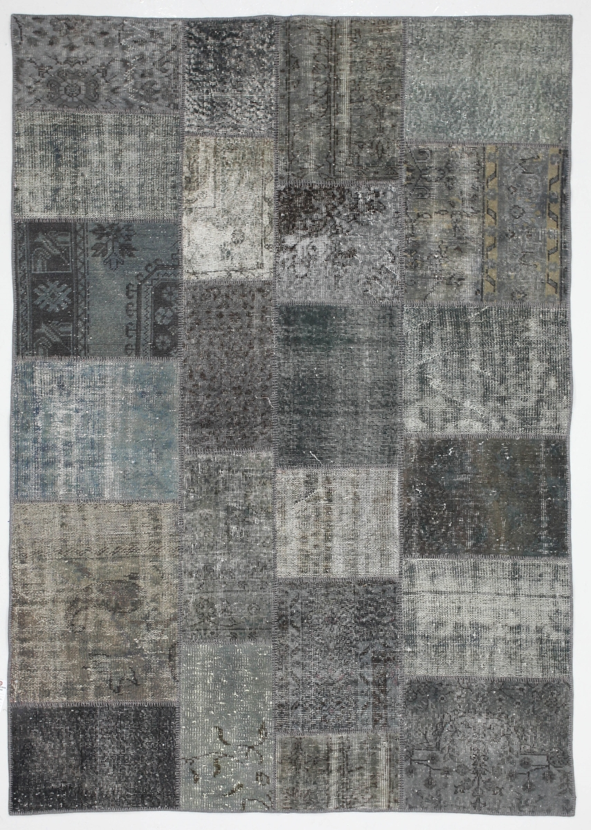 Ručně vázaný koberec - Bakero - Patchwork Dark Silver