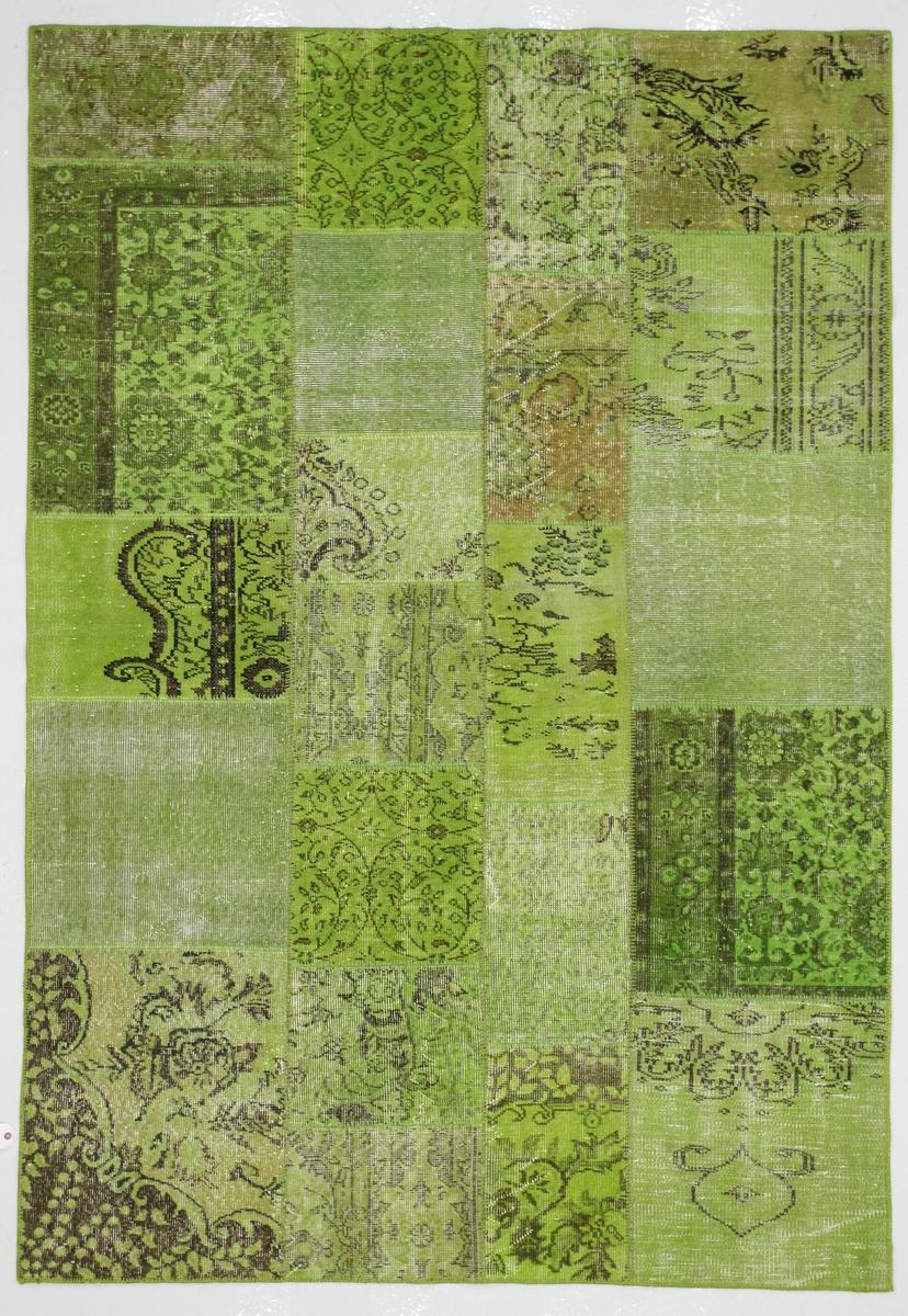 Ručně vázaný koberec - Bakero - Patchwork Green