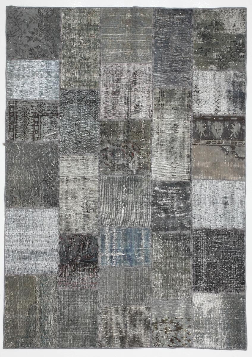 Ručně vázaný koberec - Bakero - Patchwork Light Silver