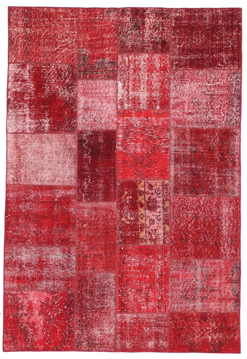Ručně vázaný koberec - Bakero - Patchwork Red