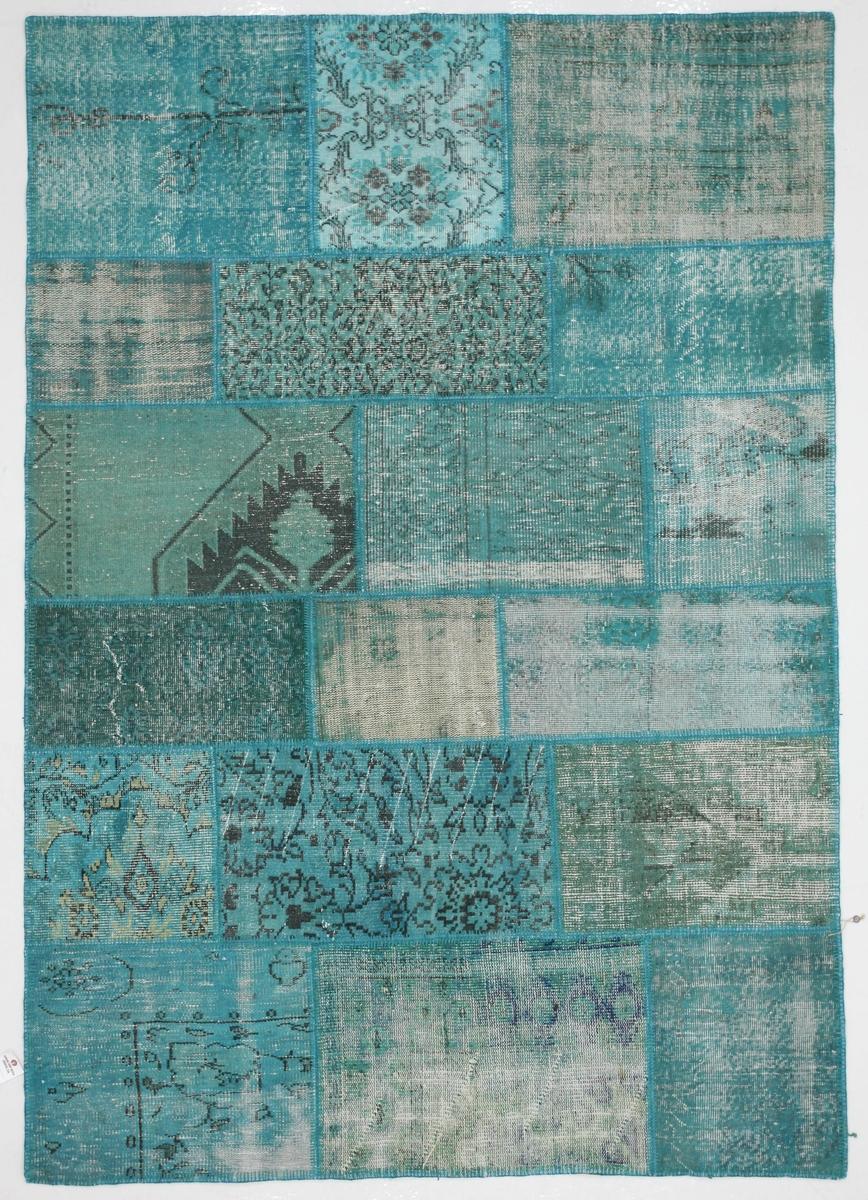 Ručně vázaný koberec - Bakero - Patchwork Turquoise