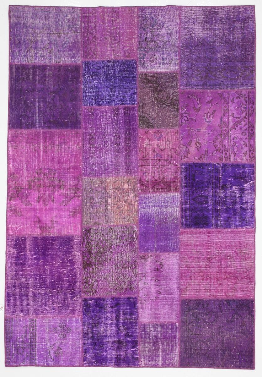 Ručně vázaný koberec - Bakero - Patchwork Violet