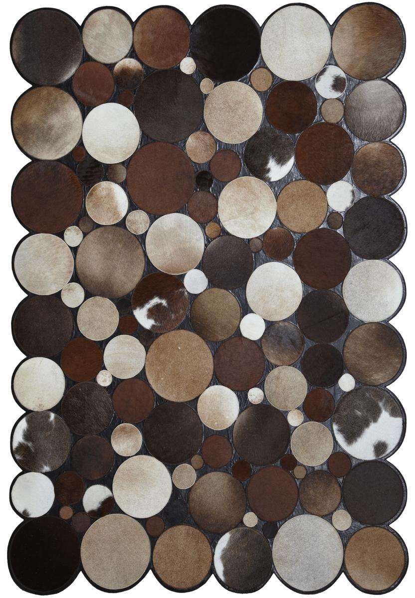 Ručně vyrobený koberec - Bakero - Sao Paolo Kruhy Tas 1 Brown