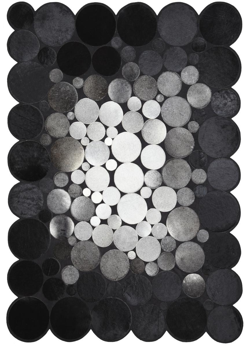 Ručně vyrobený koberec - Bakero - Sao Paolo Kruhy Tas 2 Black