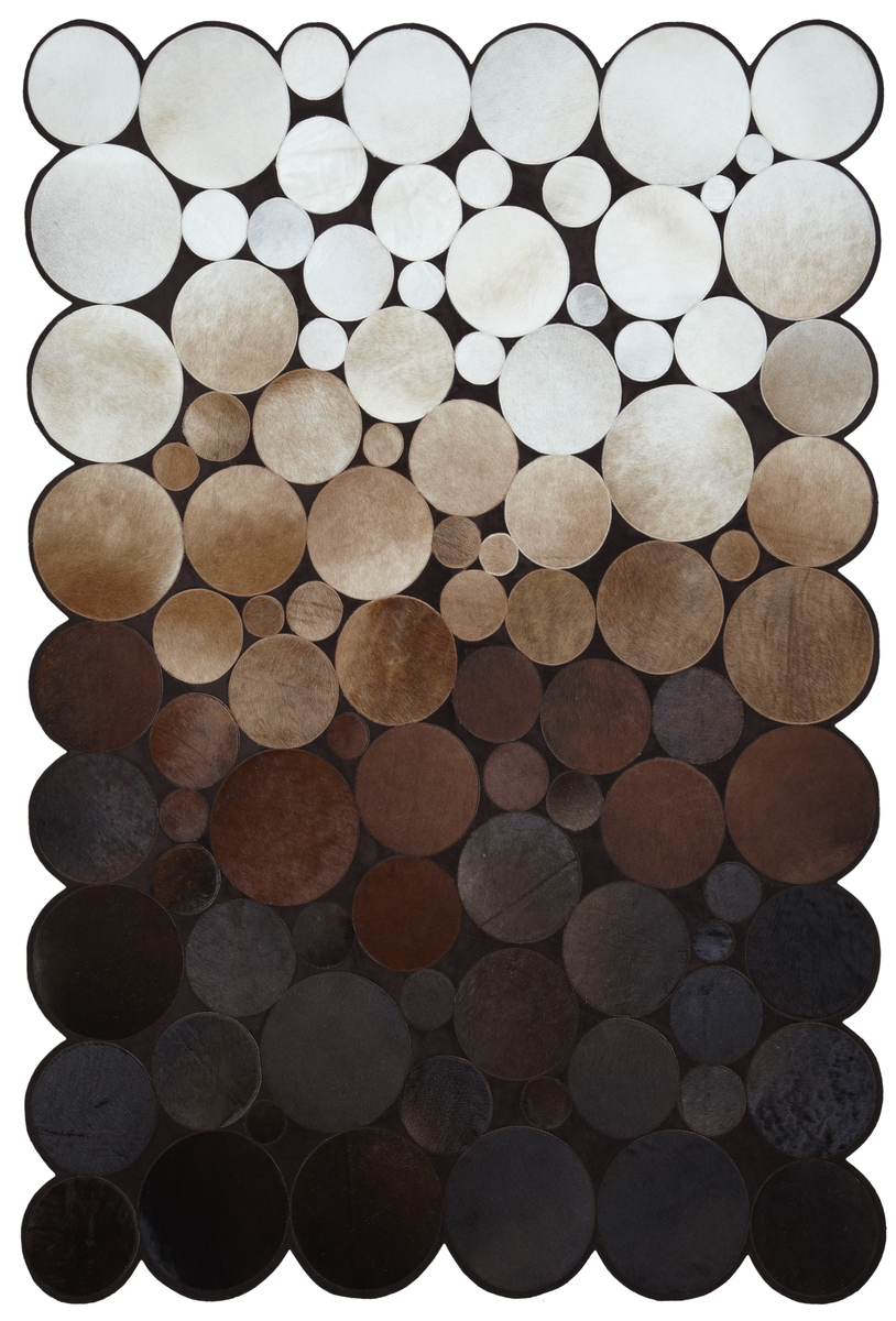 Ručně vyrobený koberec - Bakero - Sao Paolo Kruhy Tas 3 Brown