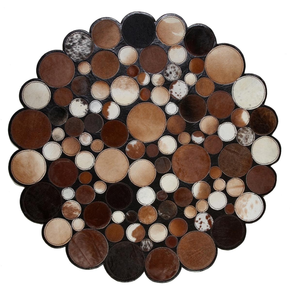 Ručně vyrobený koberec - Bakero - Sao Paolo Kruhy Tas 4 Brown